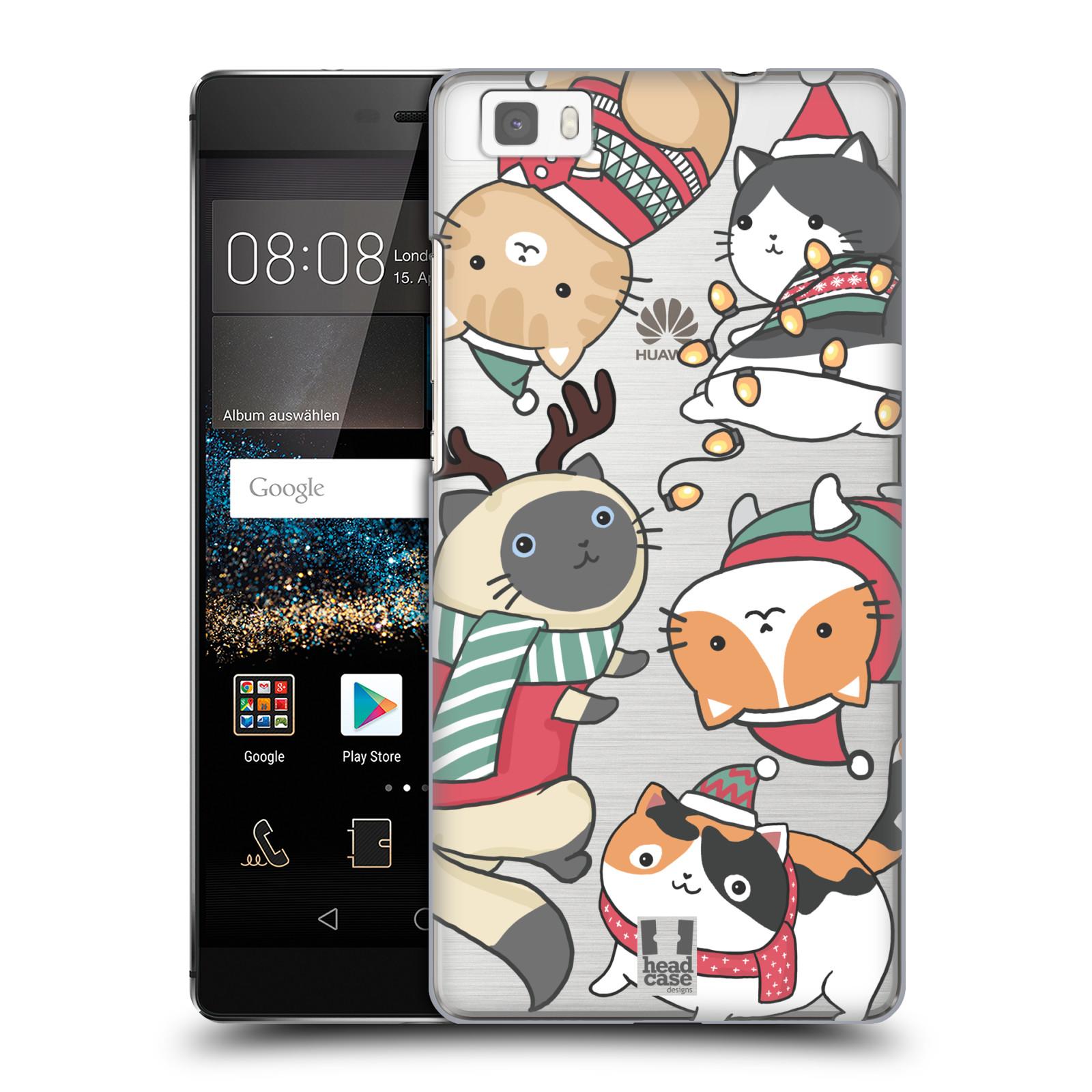 Plastové pouzdro na mobil Huawei P8 Lite - Head Case - Vánoční kočičky