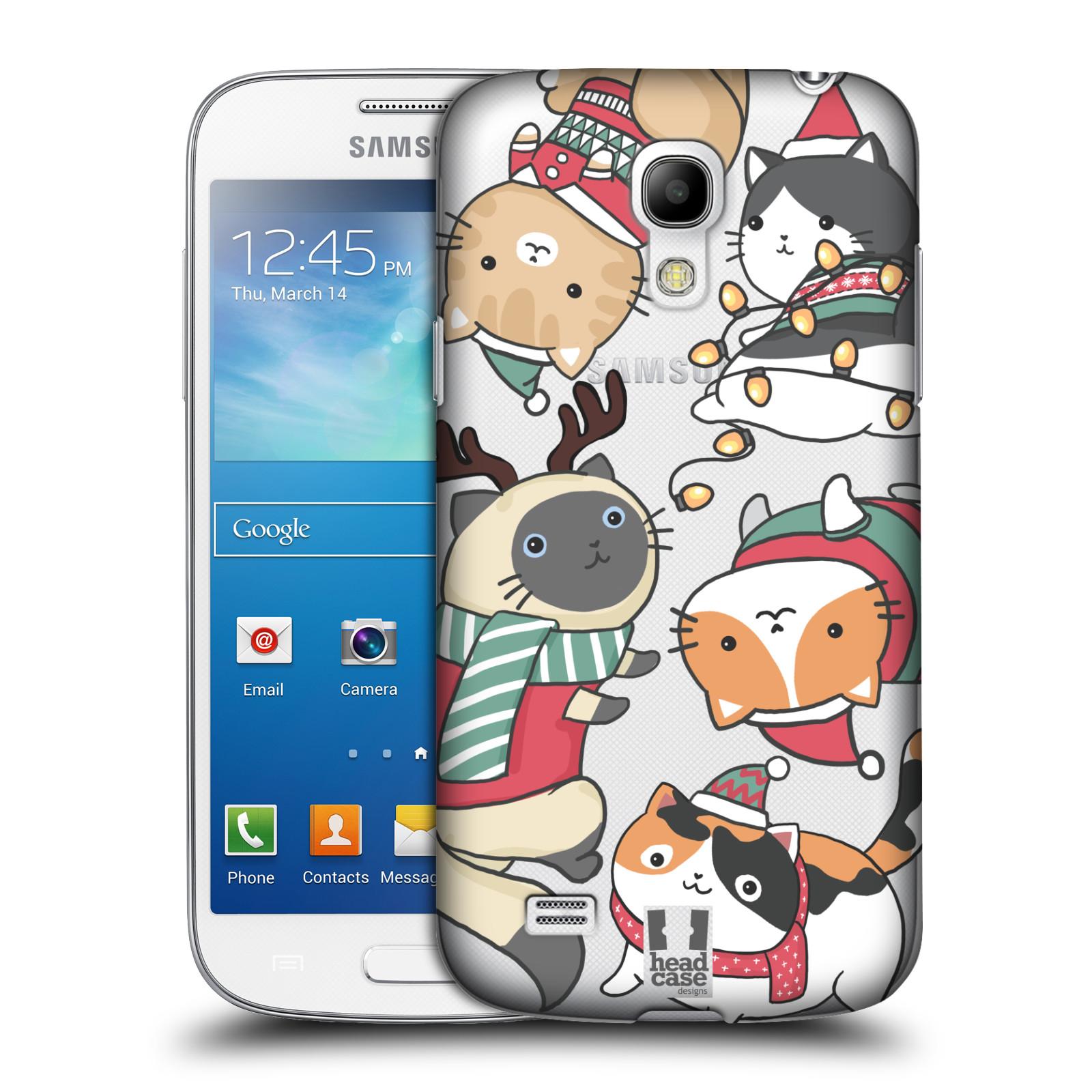 Plastové pouzdro na mobil Samsung Galaxy S4 Mini VE - Head Case - Vánoční kočičky