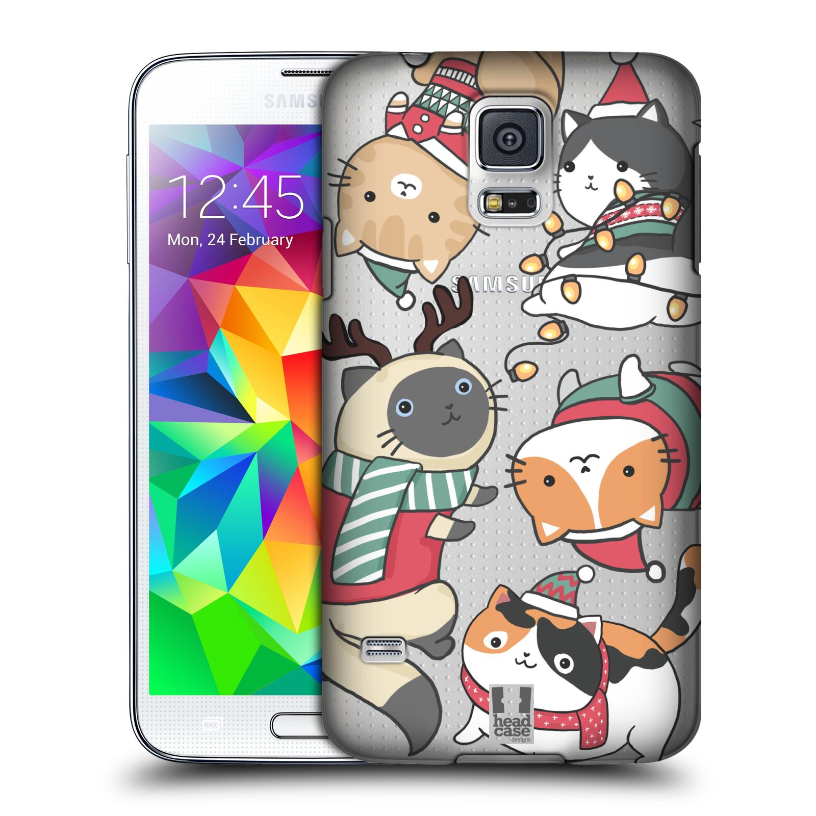 Plastové pouzdro na mobil Samsung Galaxy S5 - Head Case - Vánoční kočičky