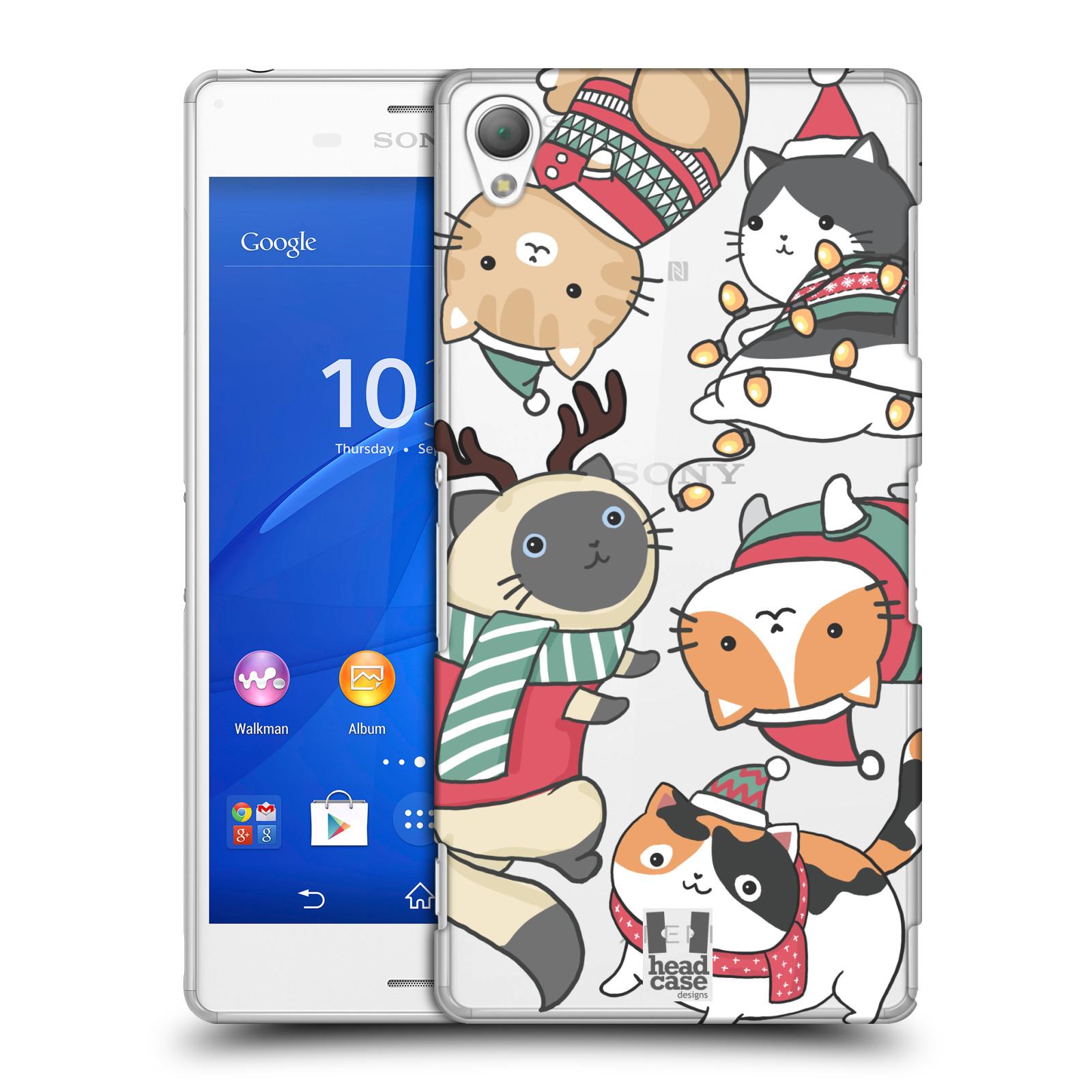 Plastové pouzdro na mobil Sony Xperia Z3 D6603 - Head Case - Vánoční kočičky