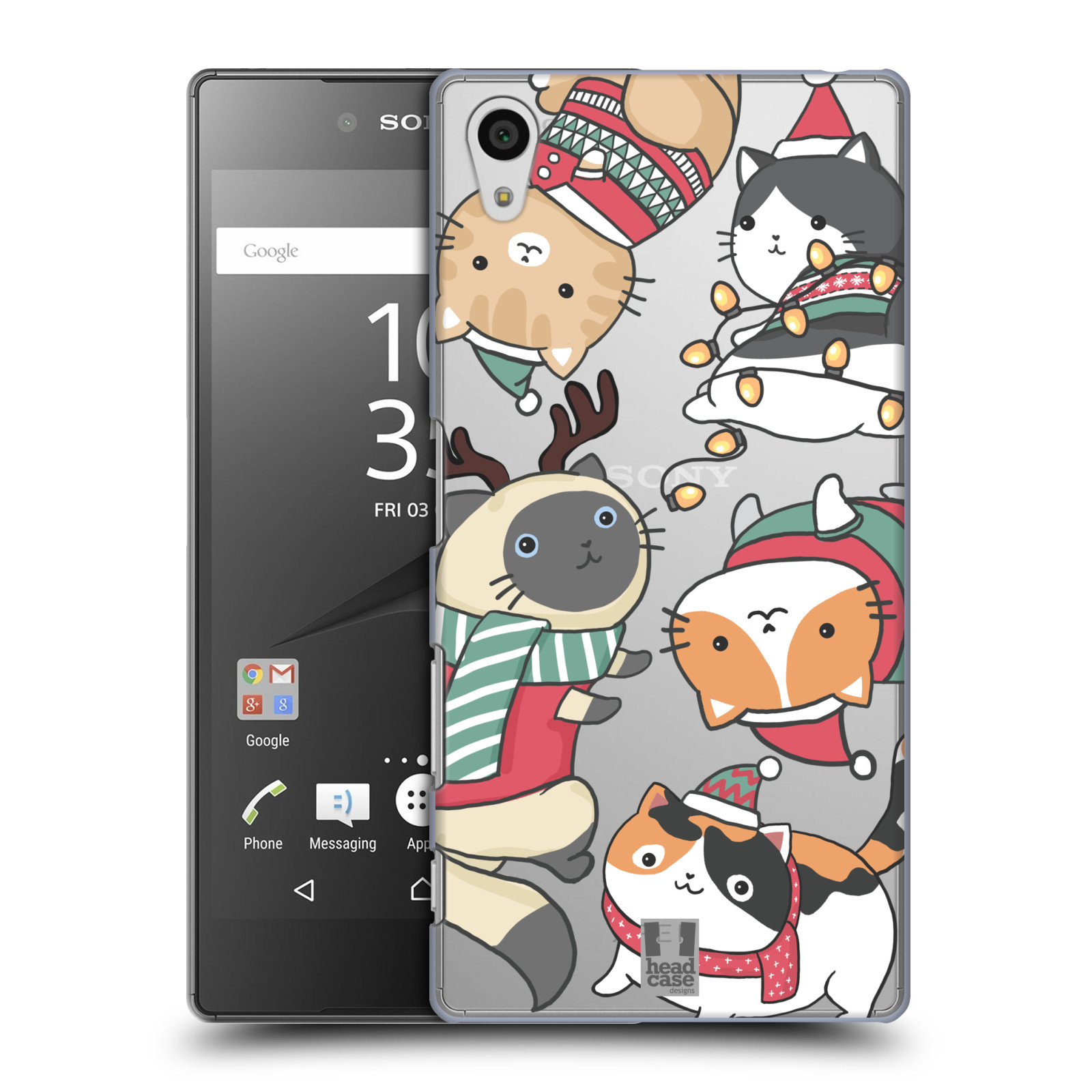 Plastové pouzdro na mobil Sony Xperia Z5 - Head Case - Vánoční kočičky