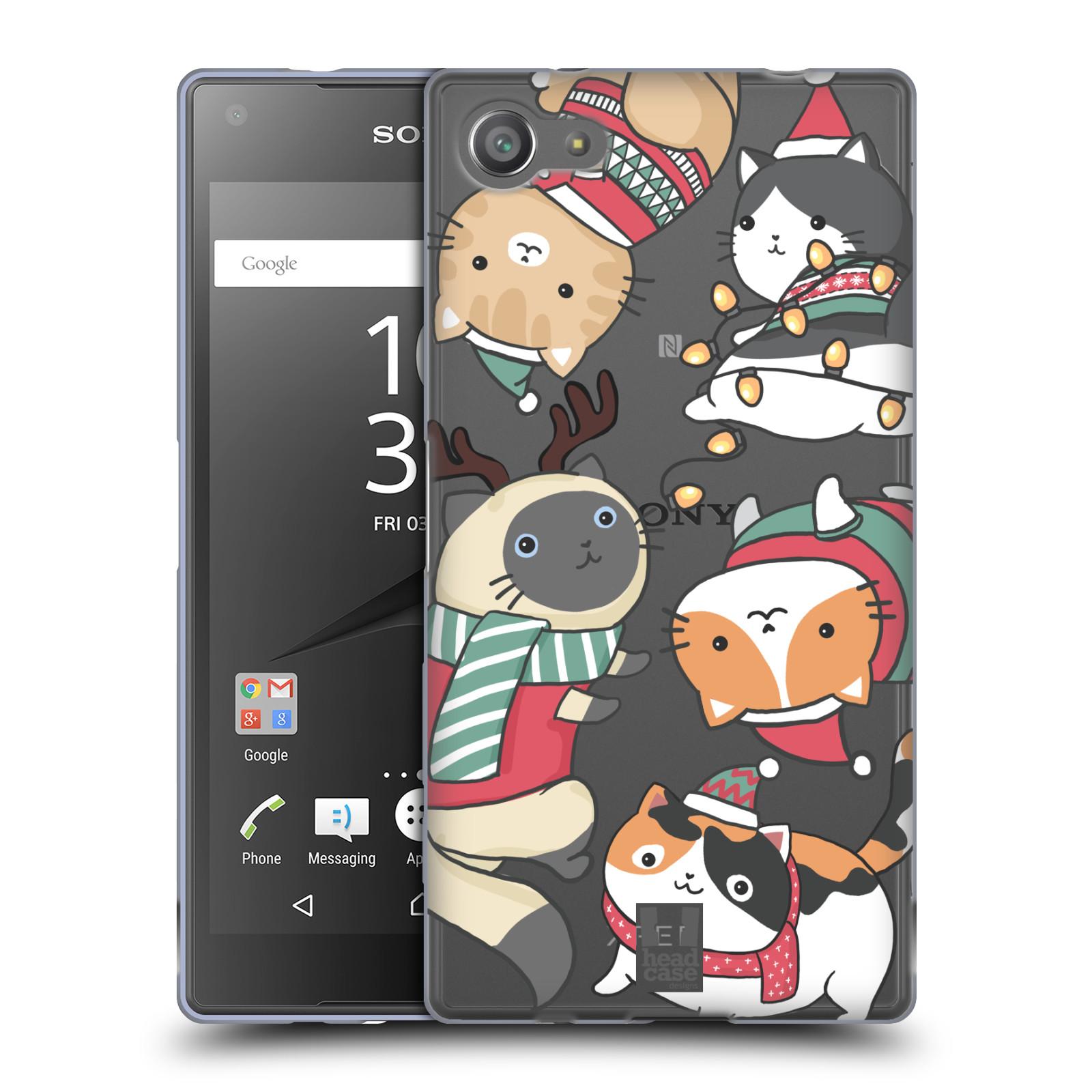Silikonové pouzdro na mobil Sony Xperia Z5 Compact - Head Case - Vánoční kočičky