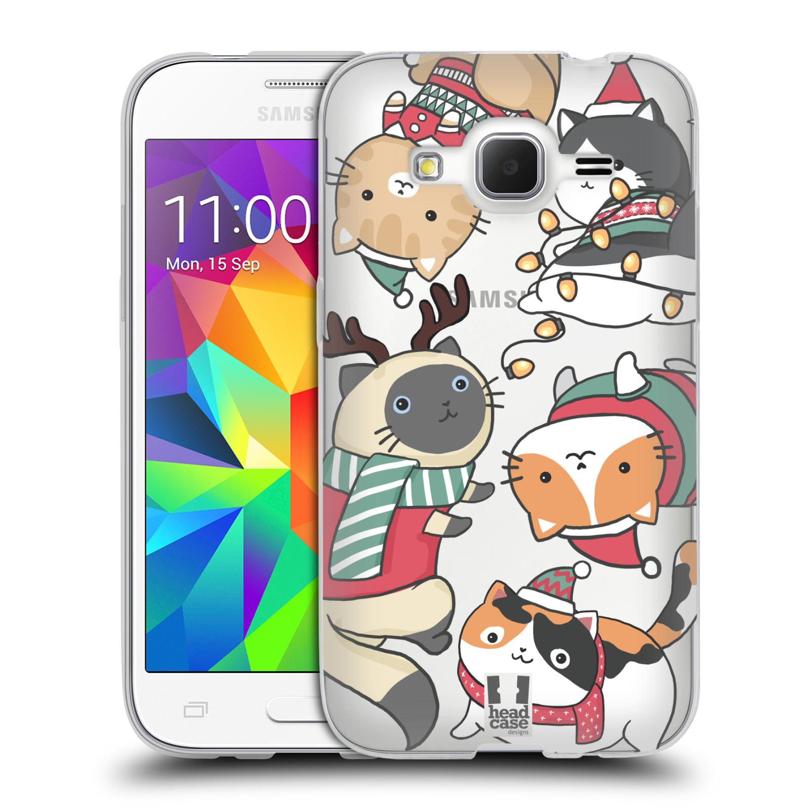 Silikonové pouzdro na mobil Samsung Galaxy Core Prime VE - Head Case - Vánoční kočičky