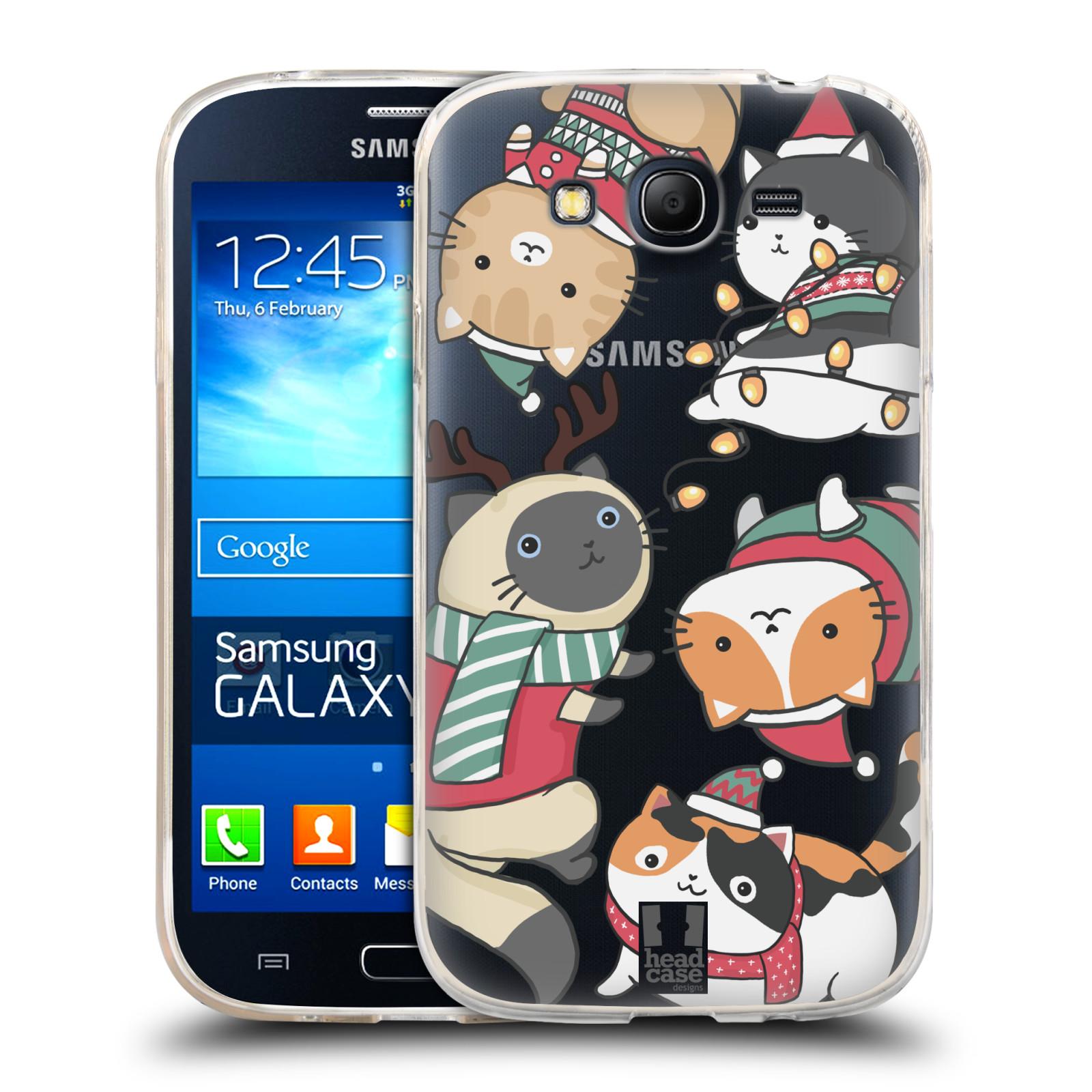 Silikonové pouzdro na mobil Samsung Galaxy Grand Neo - Head Case - Vánoční kočičky