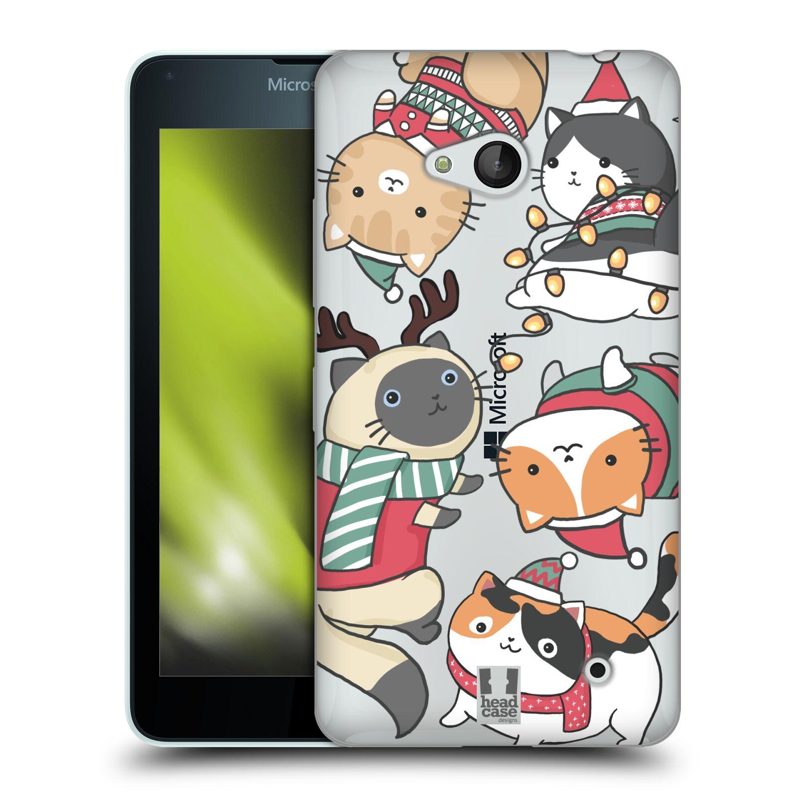 Silikonové pouzdro na mobil Microsoft Lumia 640 - Head Case - Vánoční kočičky