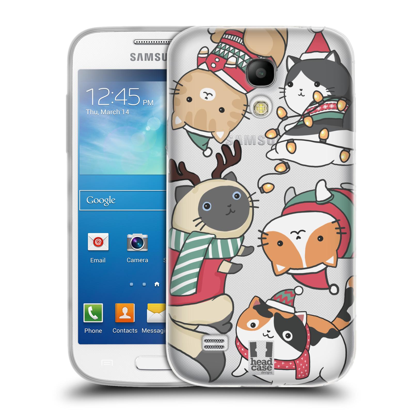 Silikonové pouzdro na mobil Samsung Galaxy S4 Mini - Head Case - Vánoční kočičky