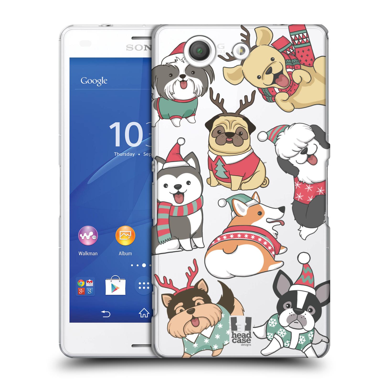 Plastové pouzdro na mobil Sony Xperia Z3 Compact D5803 - Head Case - Vánoční pejsci