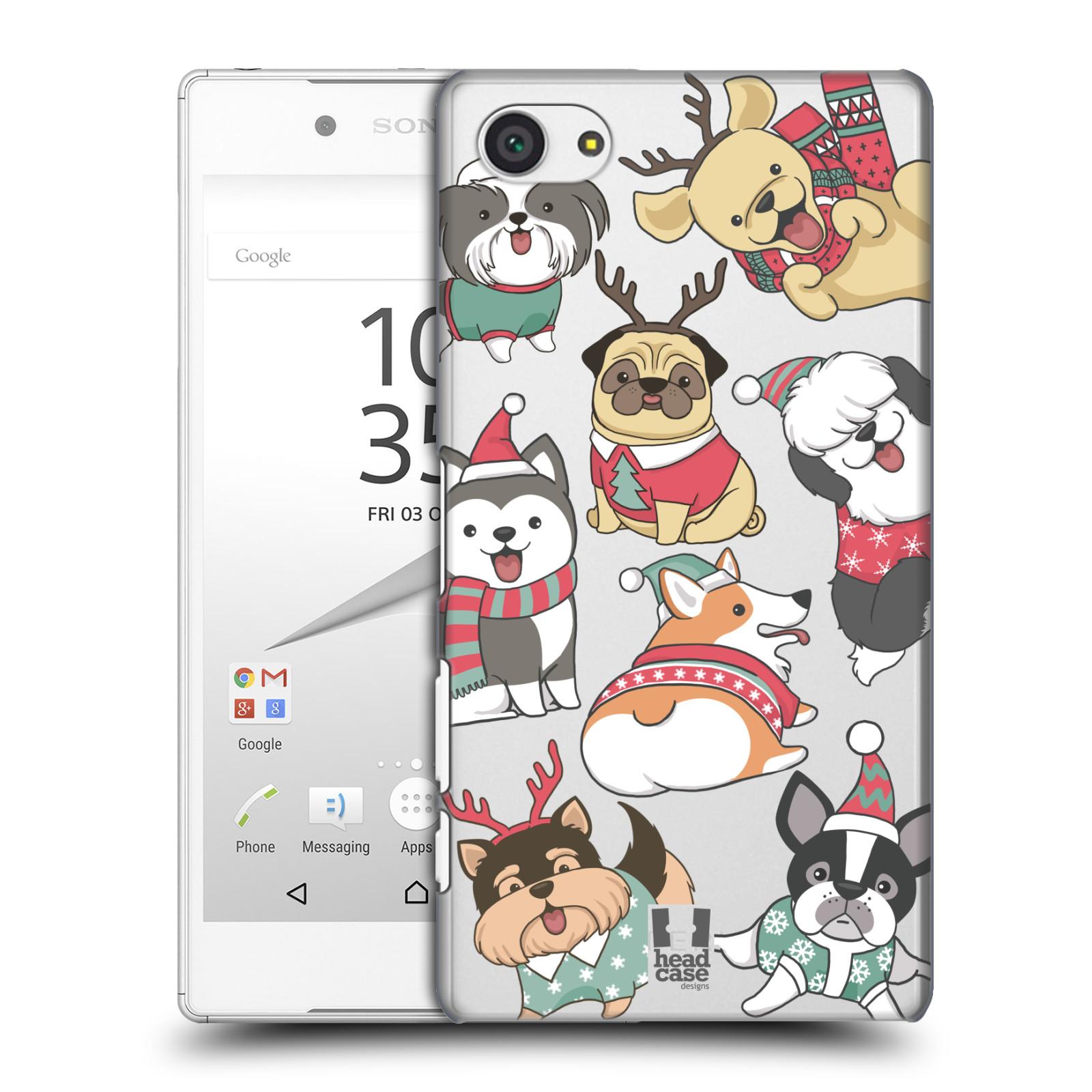 Plastové pouzdro na mobil Sony Xperia Z5 Compact - Head Case - Vánoční pejsci