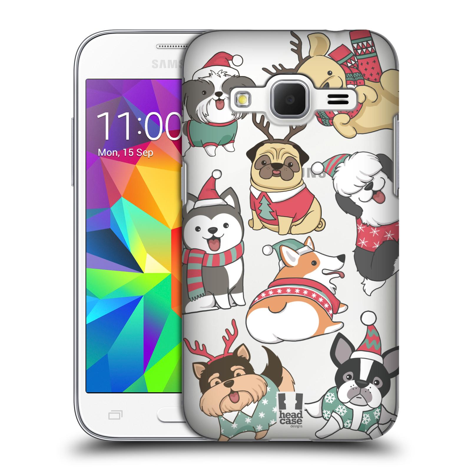 Plastové pouzdro na mobil Samsung Galaxy Core Prime LTE - Head Case - Vánoční pejsci