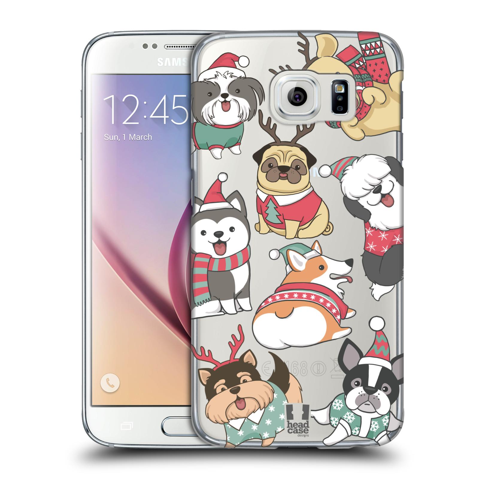 Plastové pouzdro na mobil Samsung Galaxy S6 - Head Case - Vánoční pejsci