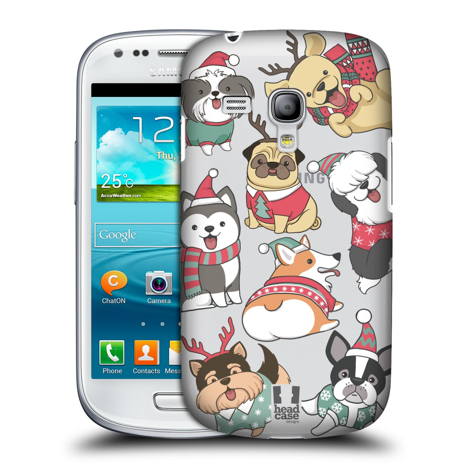 Plastové pouzdro na mobil Samsung Galaxy S III Mini - Head Case - Vánoční pejsci