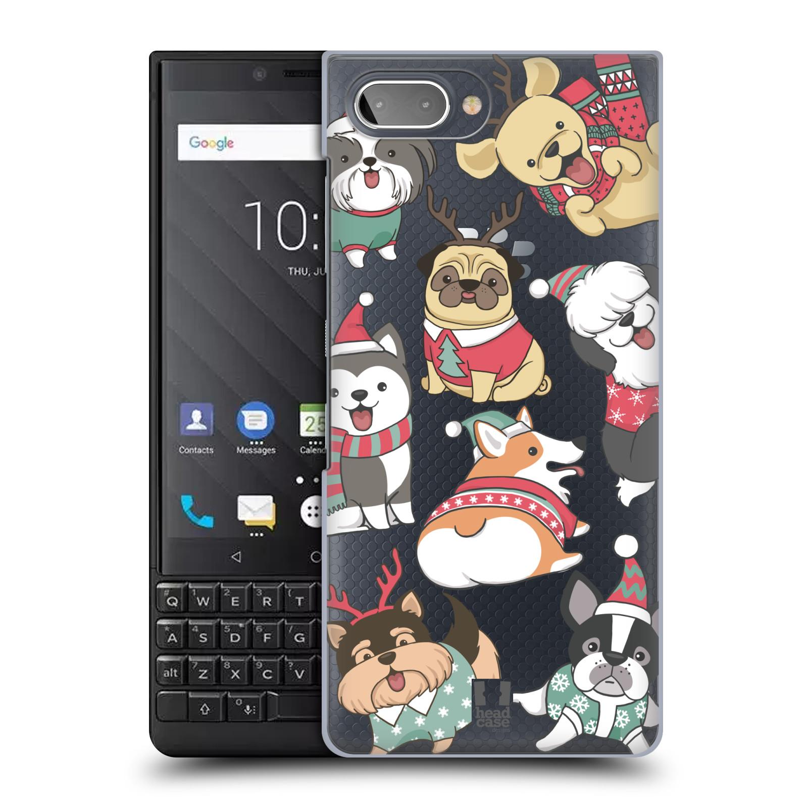 Plastové pouzdro na mobil Blackberry Key 2 - Head Case - Vánoční pejsci