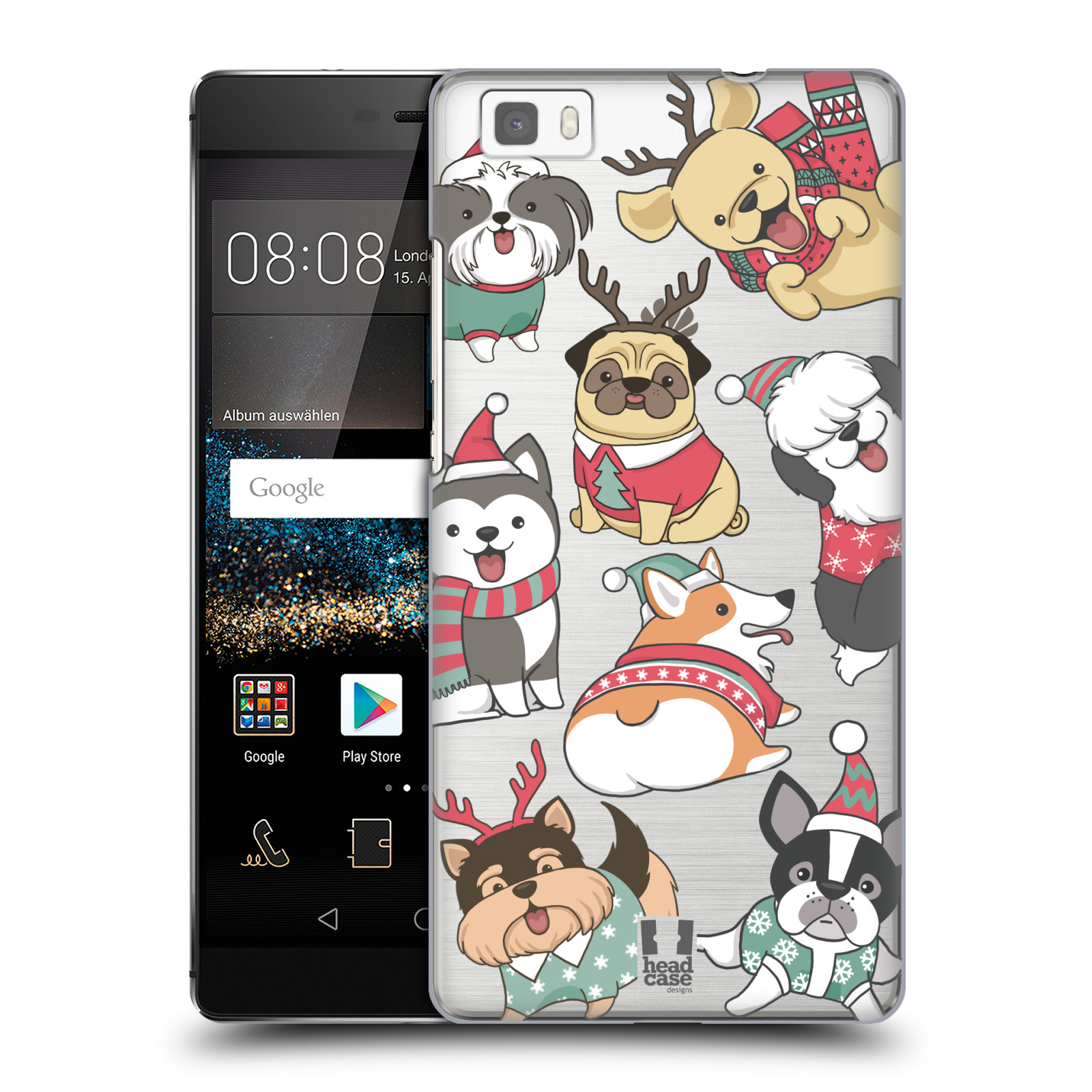 Plastové pouzdro na mobil Huawei P8 Lite - Head Case - Vánoční pejsci