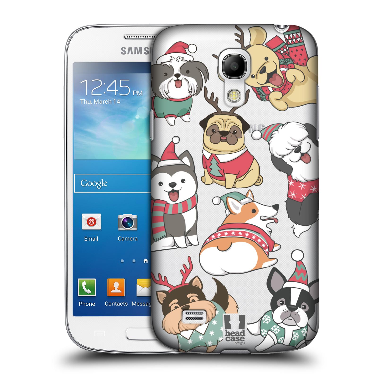 Plastové pouzdro na mobil Samsung Galaxy S4 Mini VE - Head Case - Vánoční pejsci