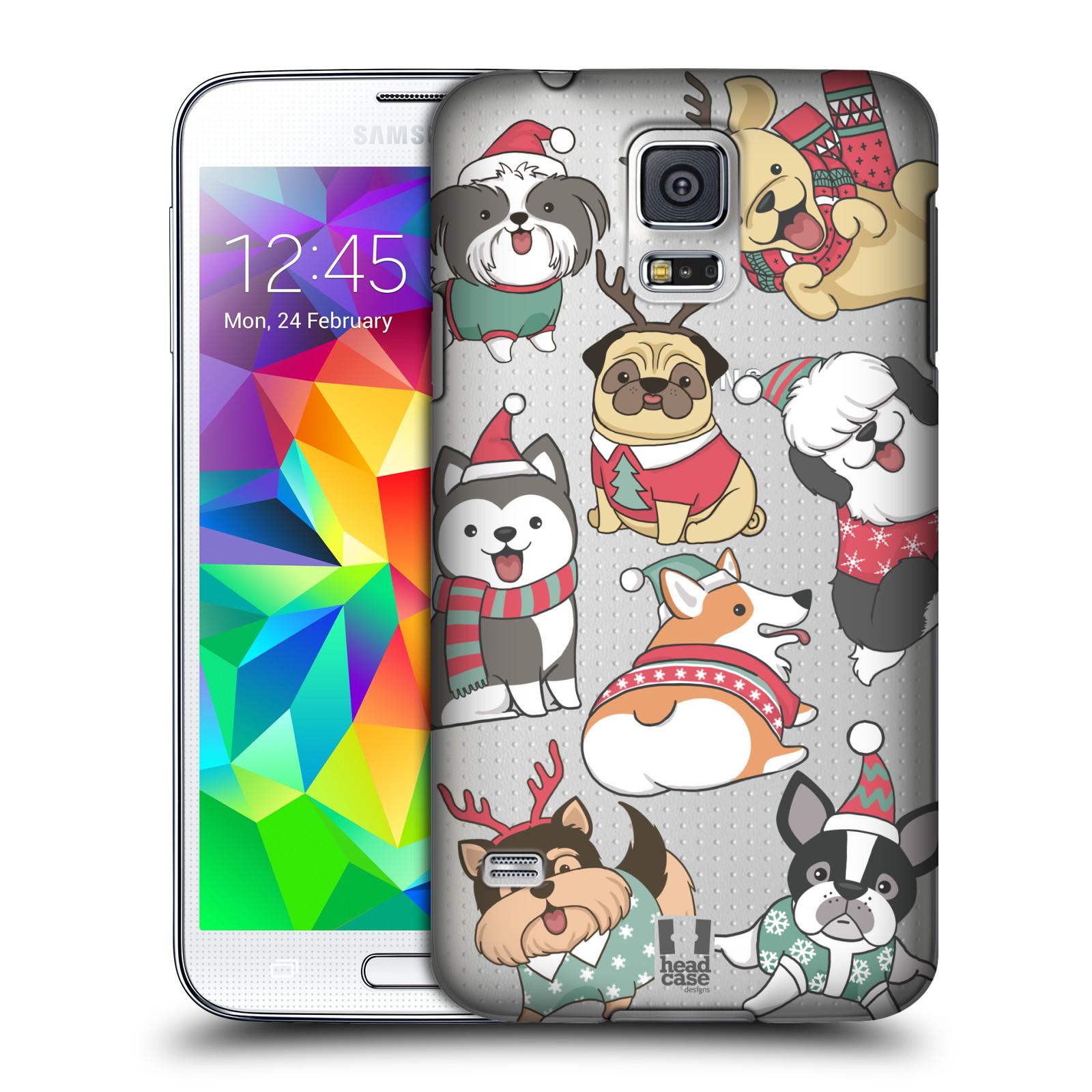 Plastové pouzdro na mobil Samsung Galaxy S5 - Head Case - Vánoční pejsci