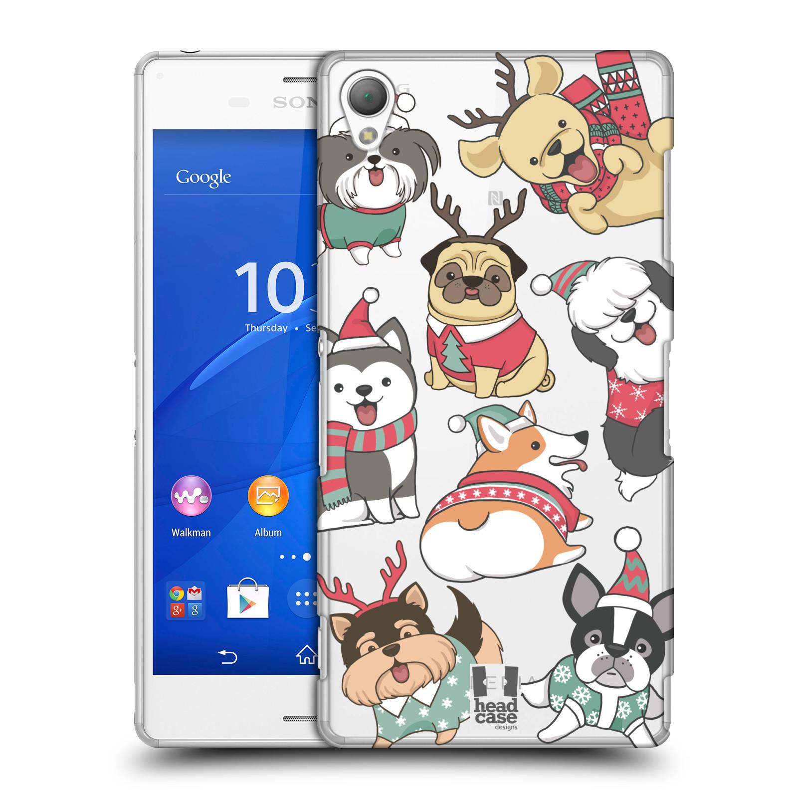 Plastové pouzdro na mobil Sony Xperia Z3 D6603 - Head Case - Vánoční pejsci