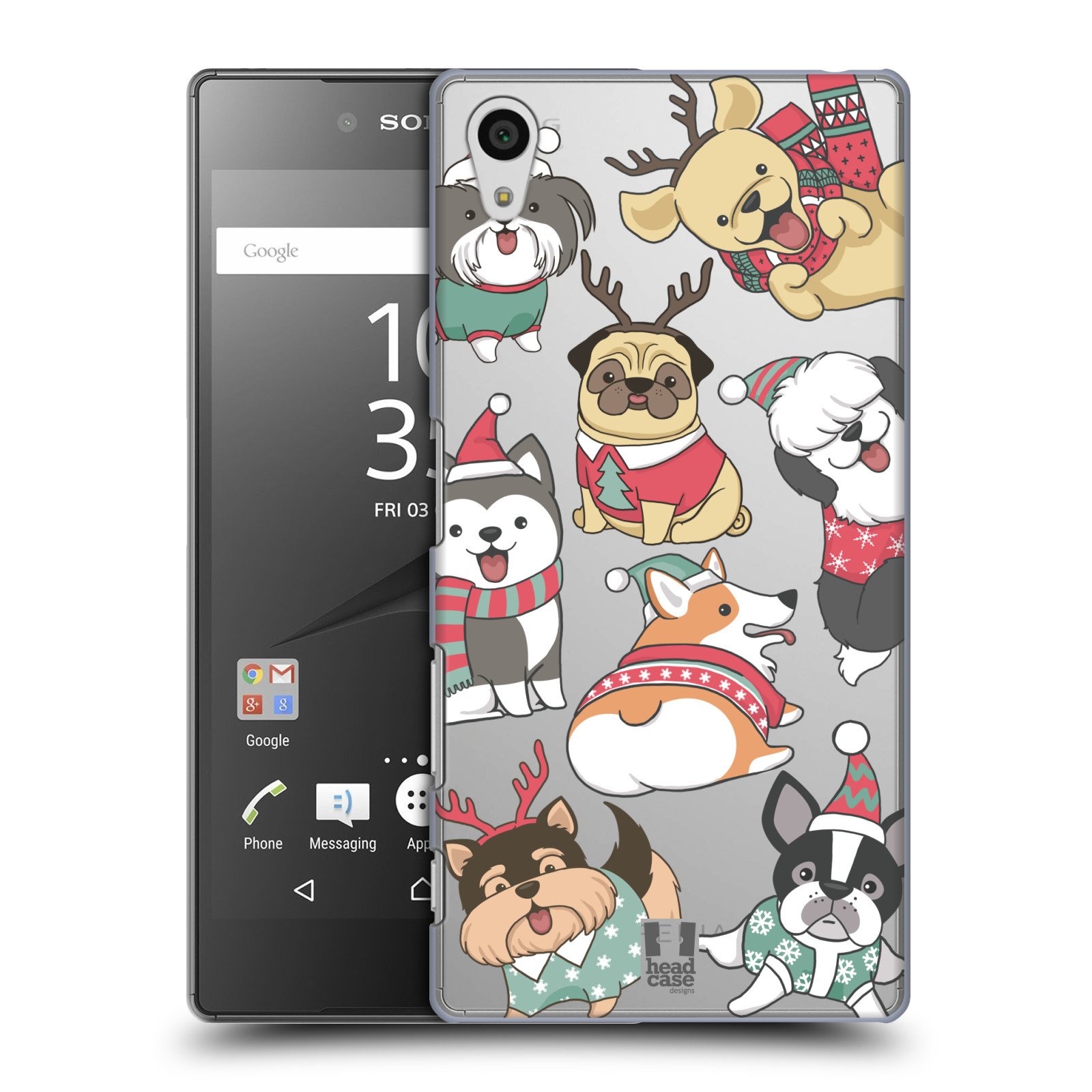 Plastové pouzdro na mobil Sony Xperia Z5 - Head Case - Vánoční pejsci