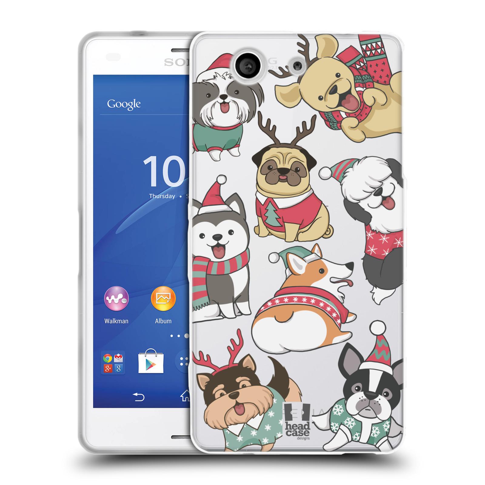 Silikonové pouzdro na mobil Sony Xperia Z3 Compact D5803 - Head Case - Vánoční pejsci