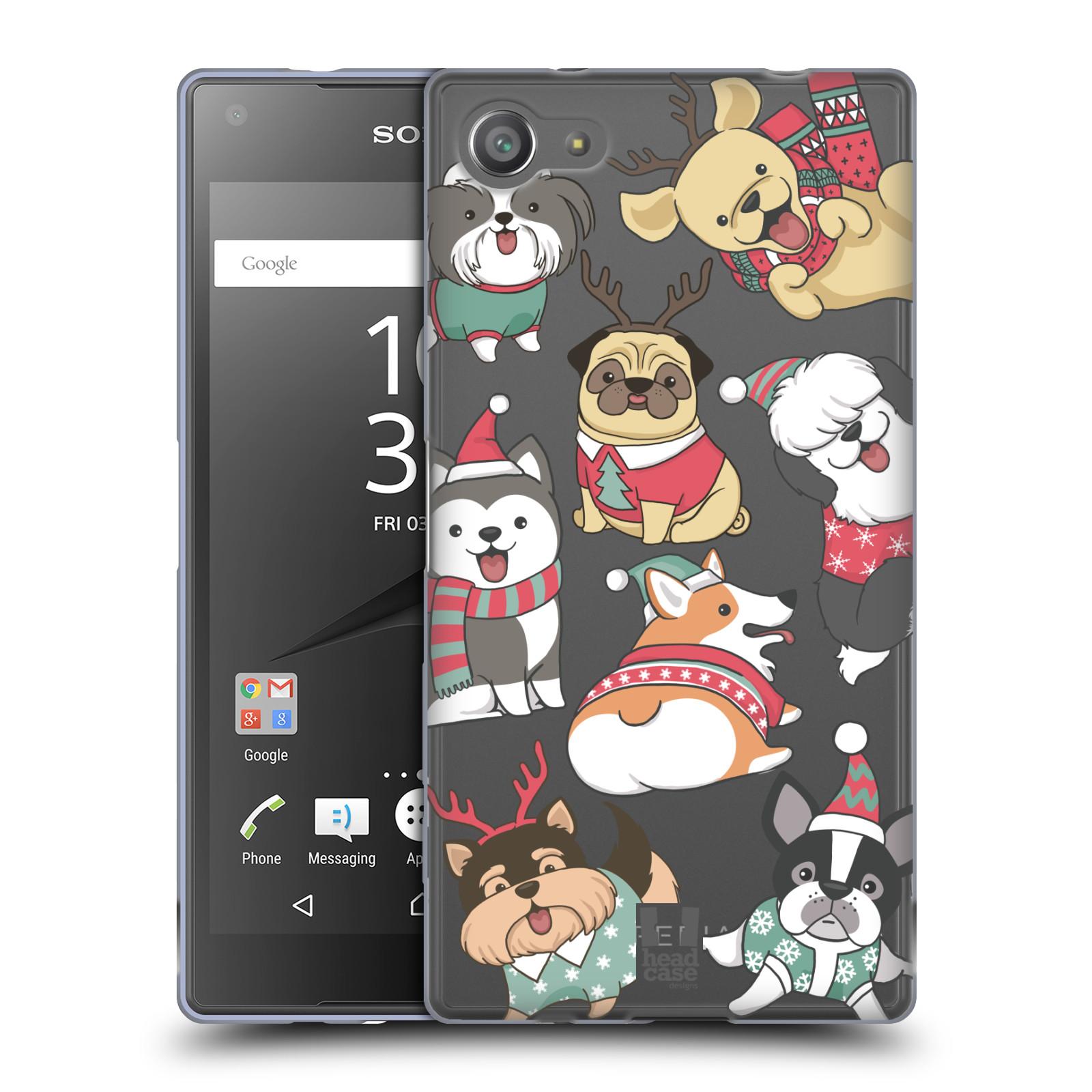 Silikonové pouzdro na mobil Sony Xperia Z5 Compact - Head Case - Vánoční pejsci