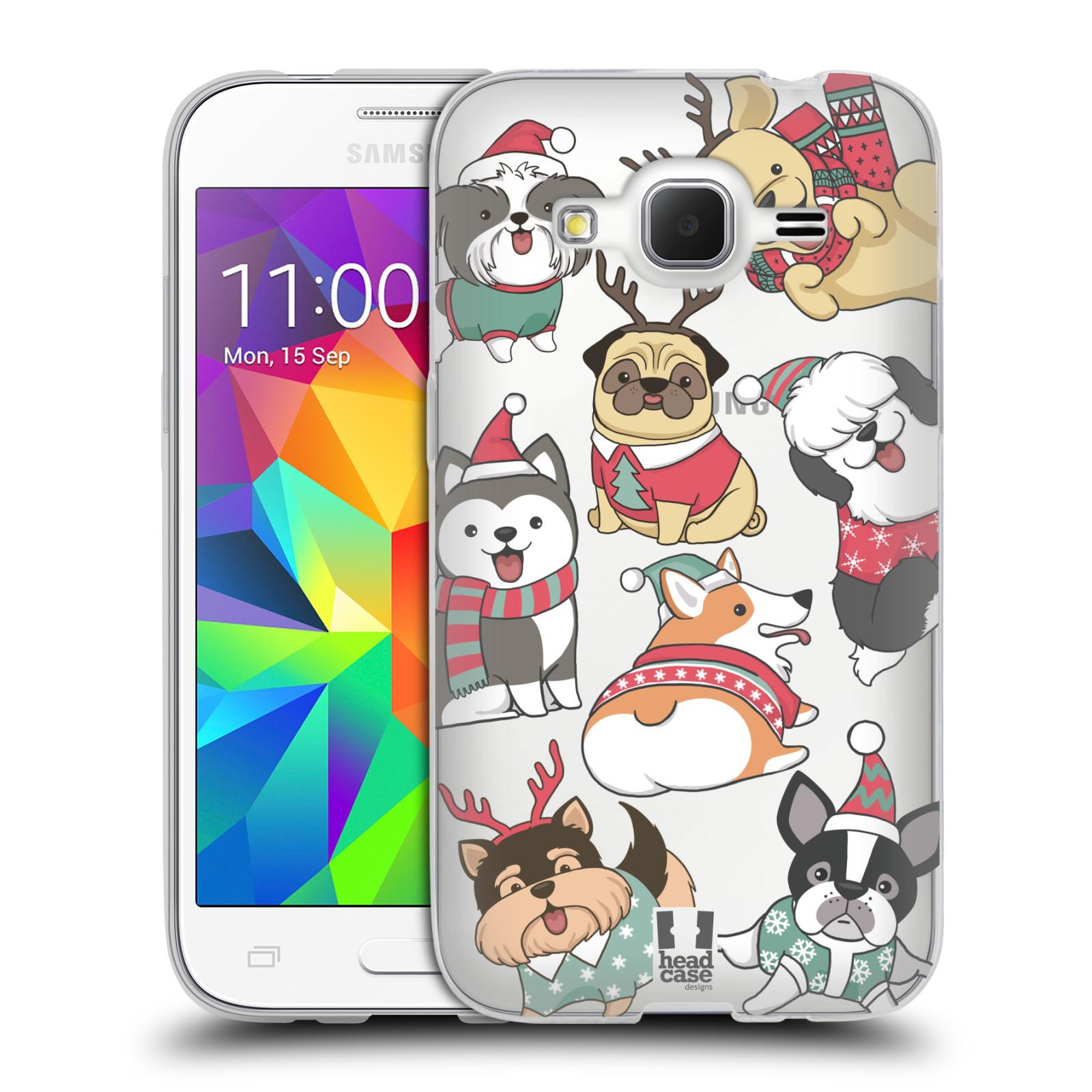 Silikonové pouzdro na mobil Samsung Galaxy Core Prime VE - Head Case - Vánoční pejsci