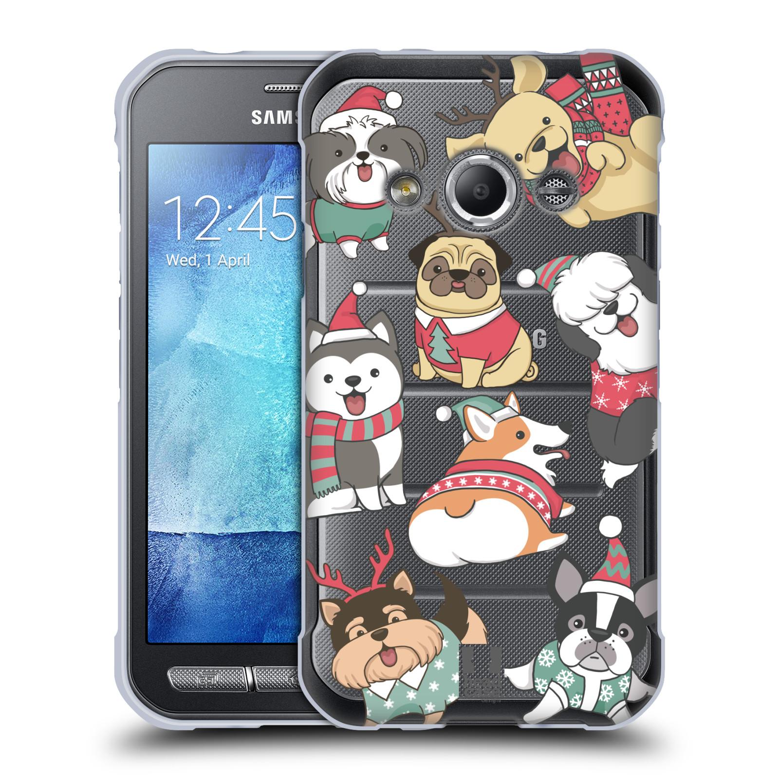 Silikonové pouzdro na mobil Samsung Galaxy Xcover 3 - Head Case - Vánoční pejsci