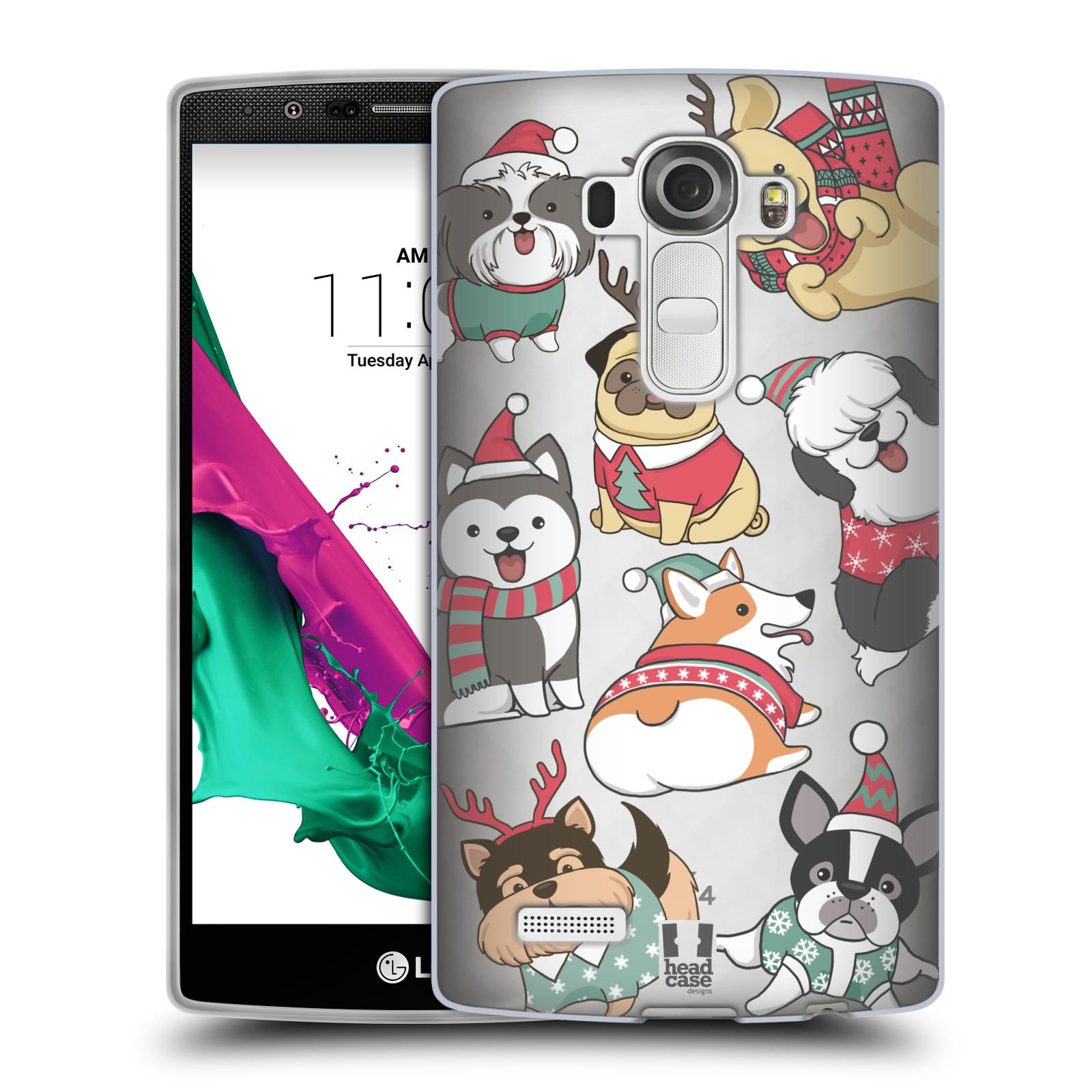 Silikonové pouzdro na mobil LG G4 - Head Case - Vánoční pejsci