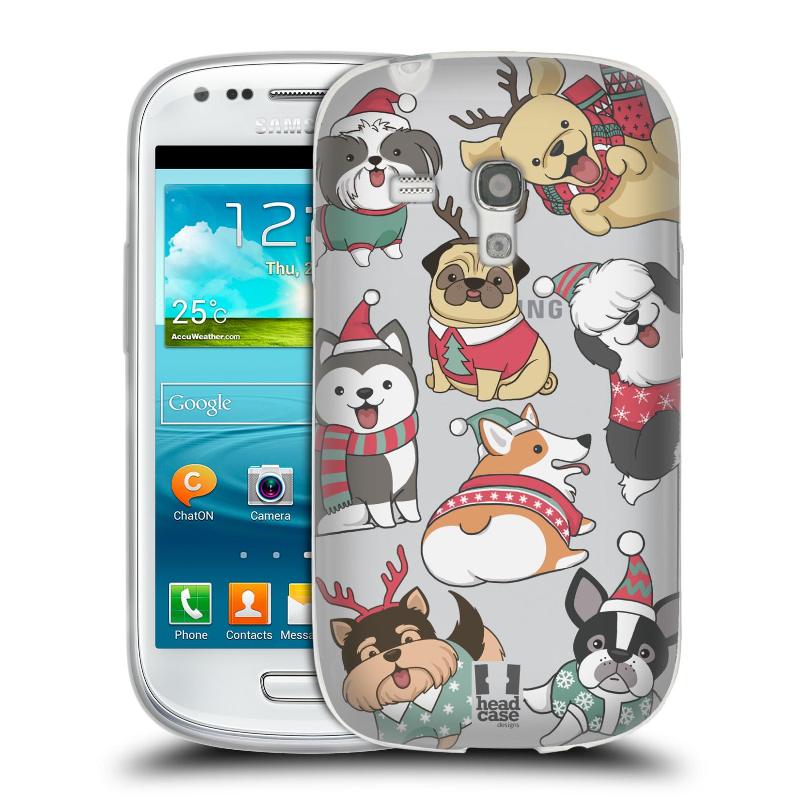 Silikonové pouzdro na mobil Samsung Galaxy S III Mini - Head Case - Vánoční pejsci