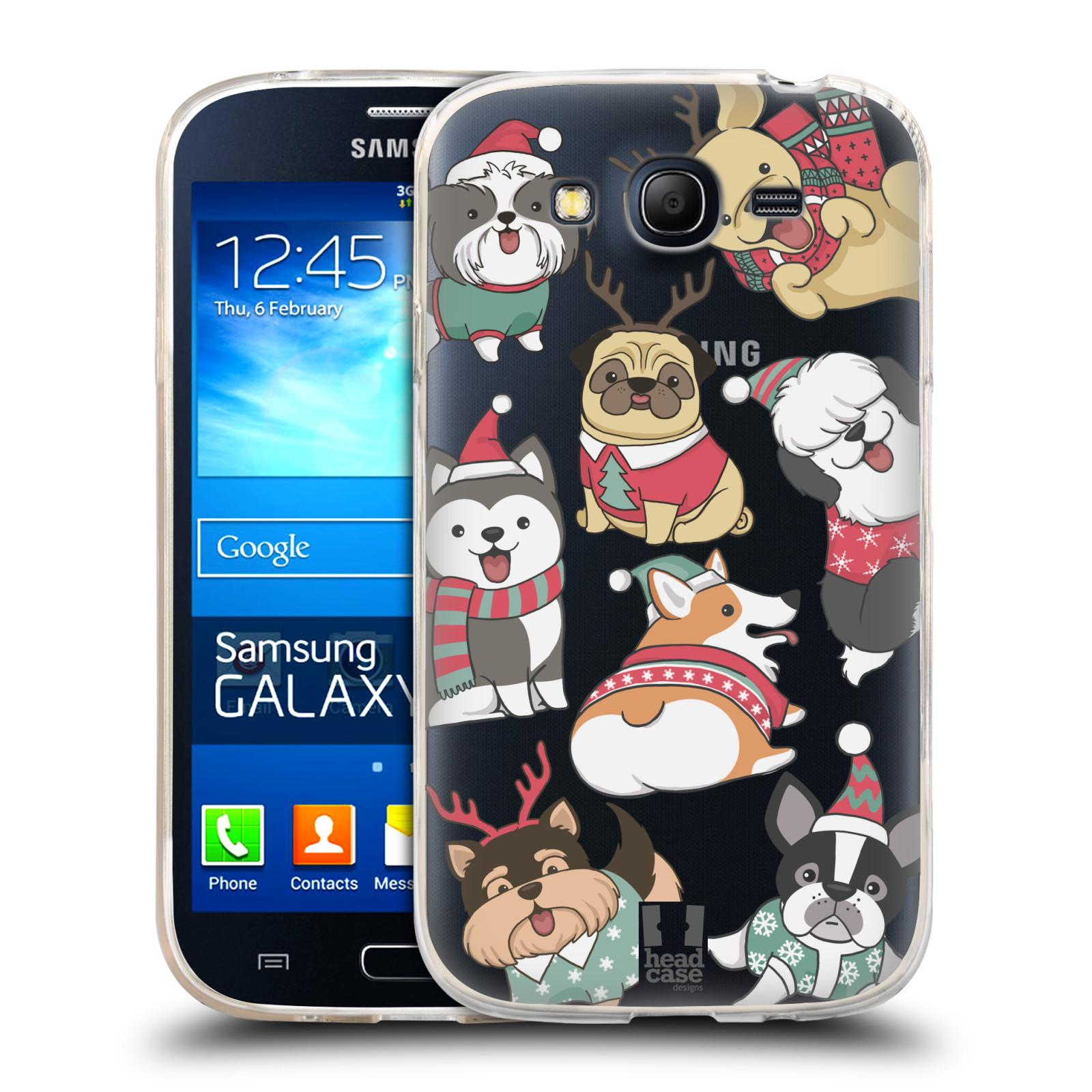 Silikonové pouzdro na mobil Samsung Galaxy Grand Neo - Head Case - Vánoční pejsci