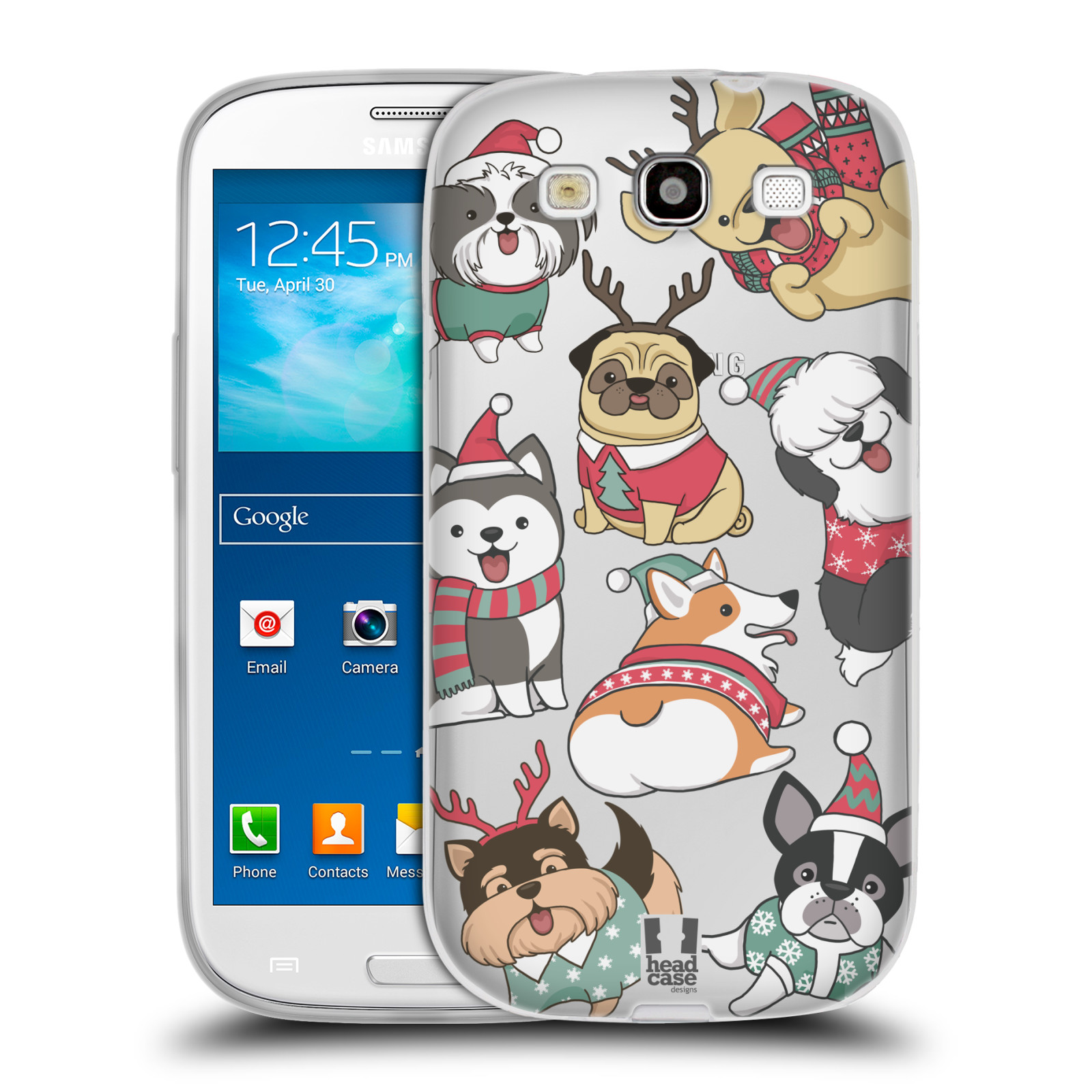 Silikonové pouzdro na mobil Samsung Galaxy S3 Neo - Head Case - Vánoční pejsci