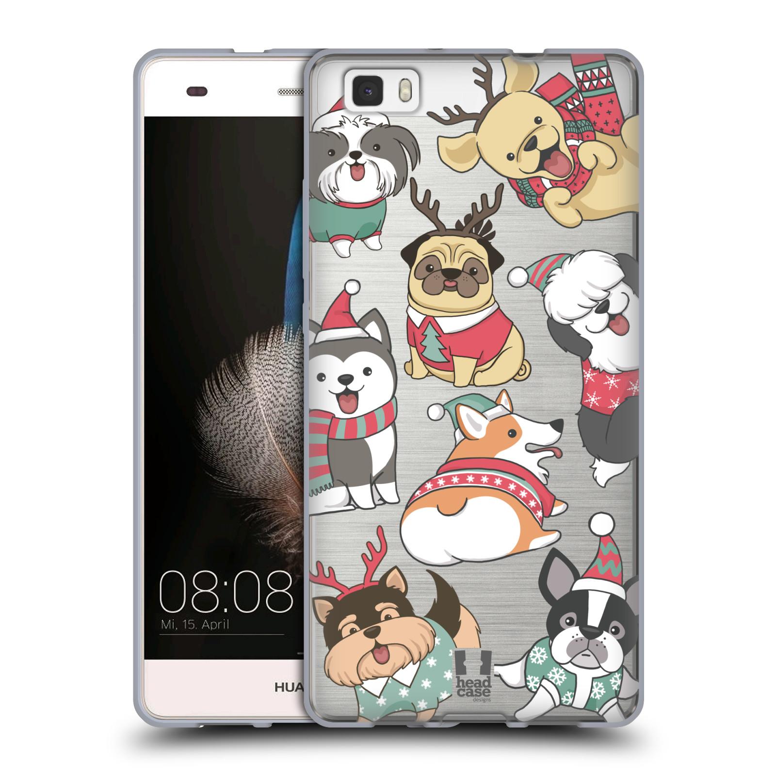 Silikonové pouzdro na mobil Huawei P8 Lite - Head Case - Vánoční pejsci