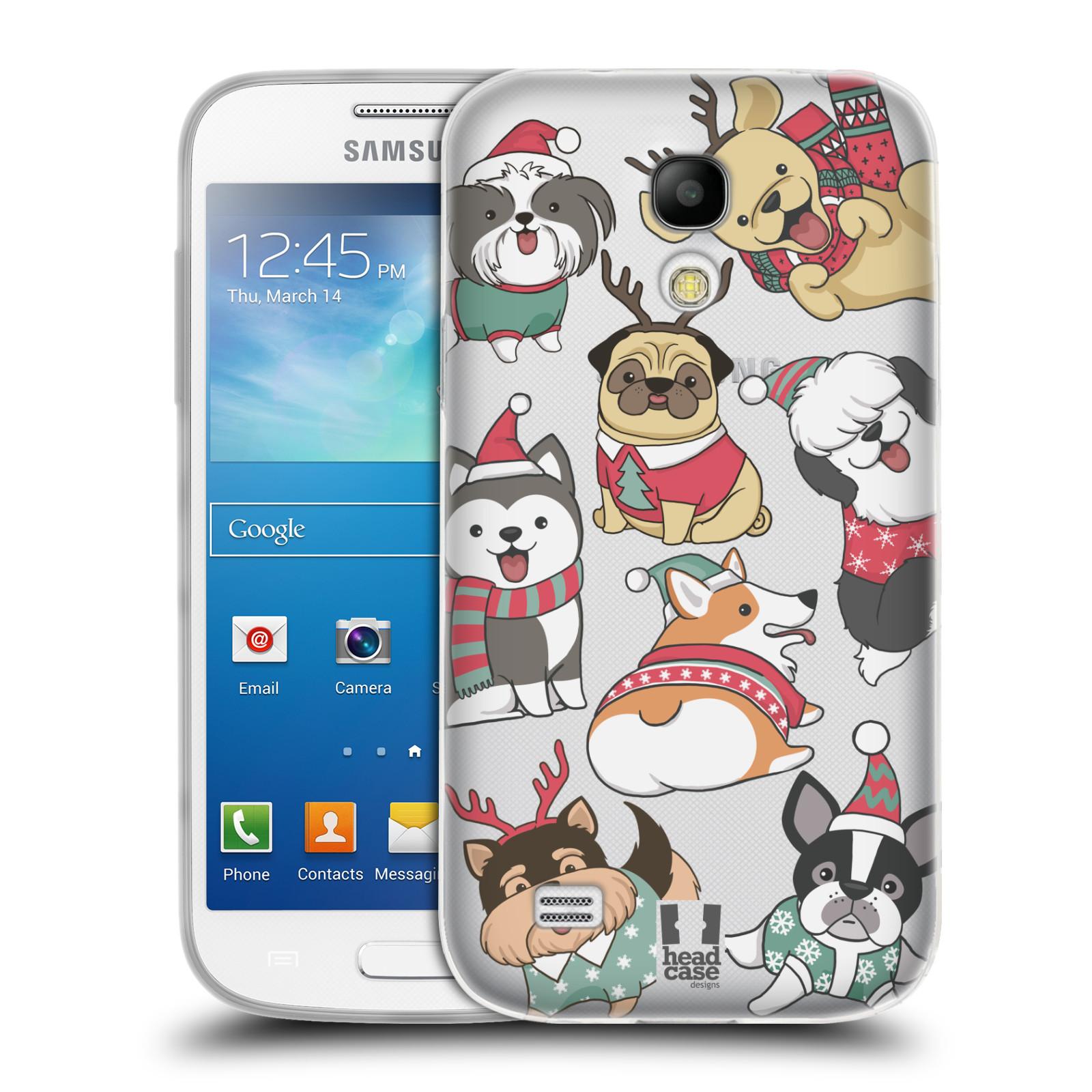 Silikonové pouzdro na mobil Samsung Galaxy S4 Mini - Head Case - Vánoční pejsci