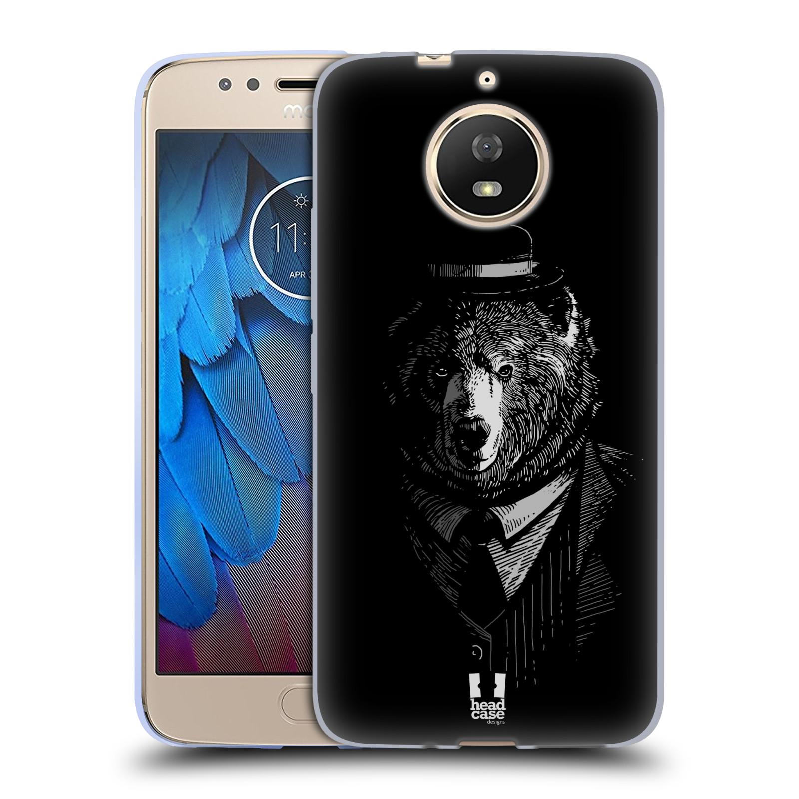 Silikonové pouzdro na mobil Lenovo Moto G5s - Head Case - MEDVĚD V KVÁDRU
