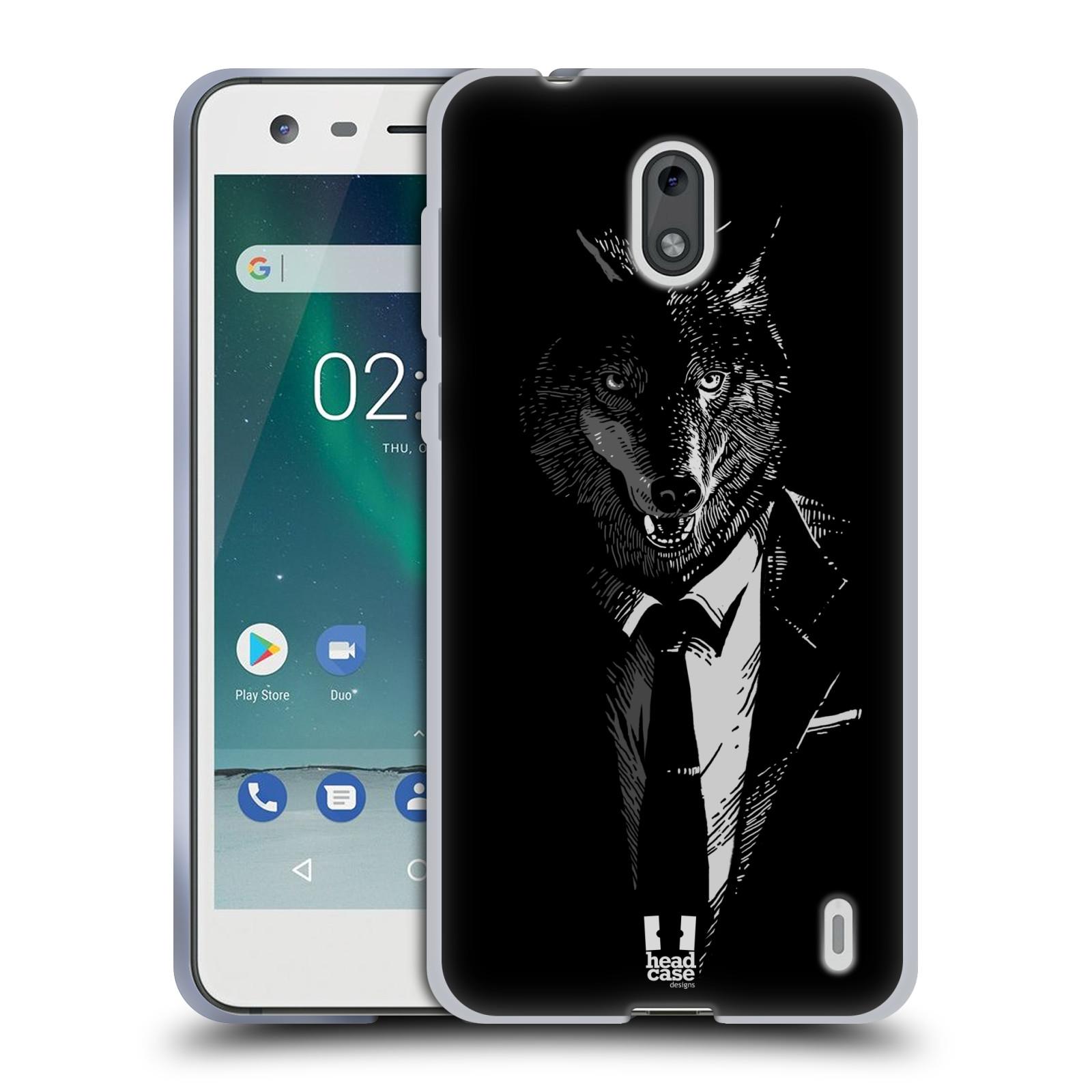 Silikonové pouzdro na mobil Nokia 2 - Head Case - VLK V KVÁDRU (Silikonový kryt či obal na mobilní telefon Nokia 2 s motivem VLK V KVÁDRU)