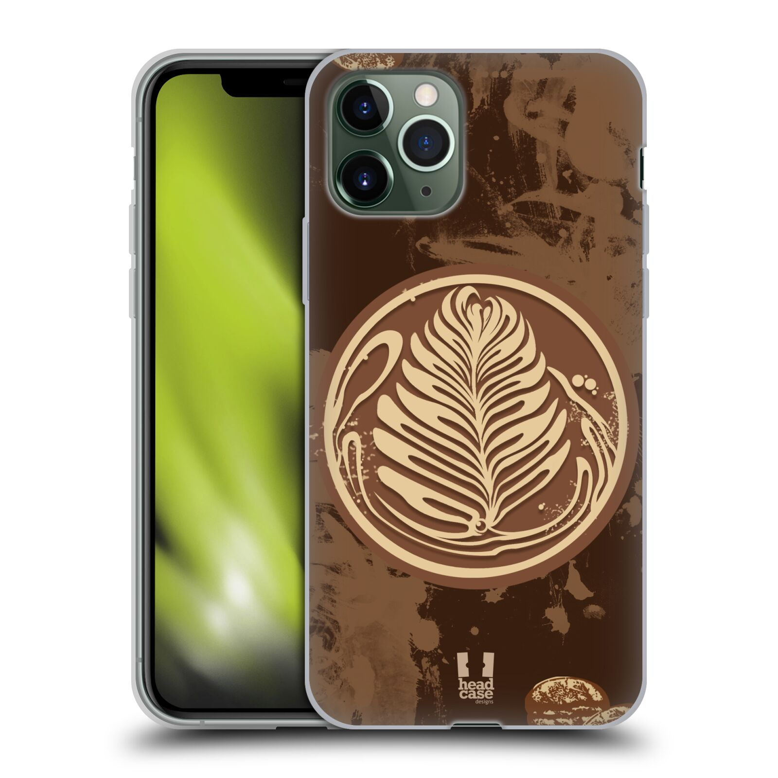 pouzdro iphone 8 apple - Silikonové pouzdro na mobil Apple iPhone 11 Pro - Head Case - Coffee Art