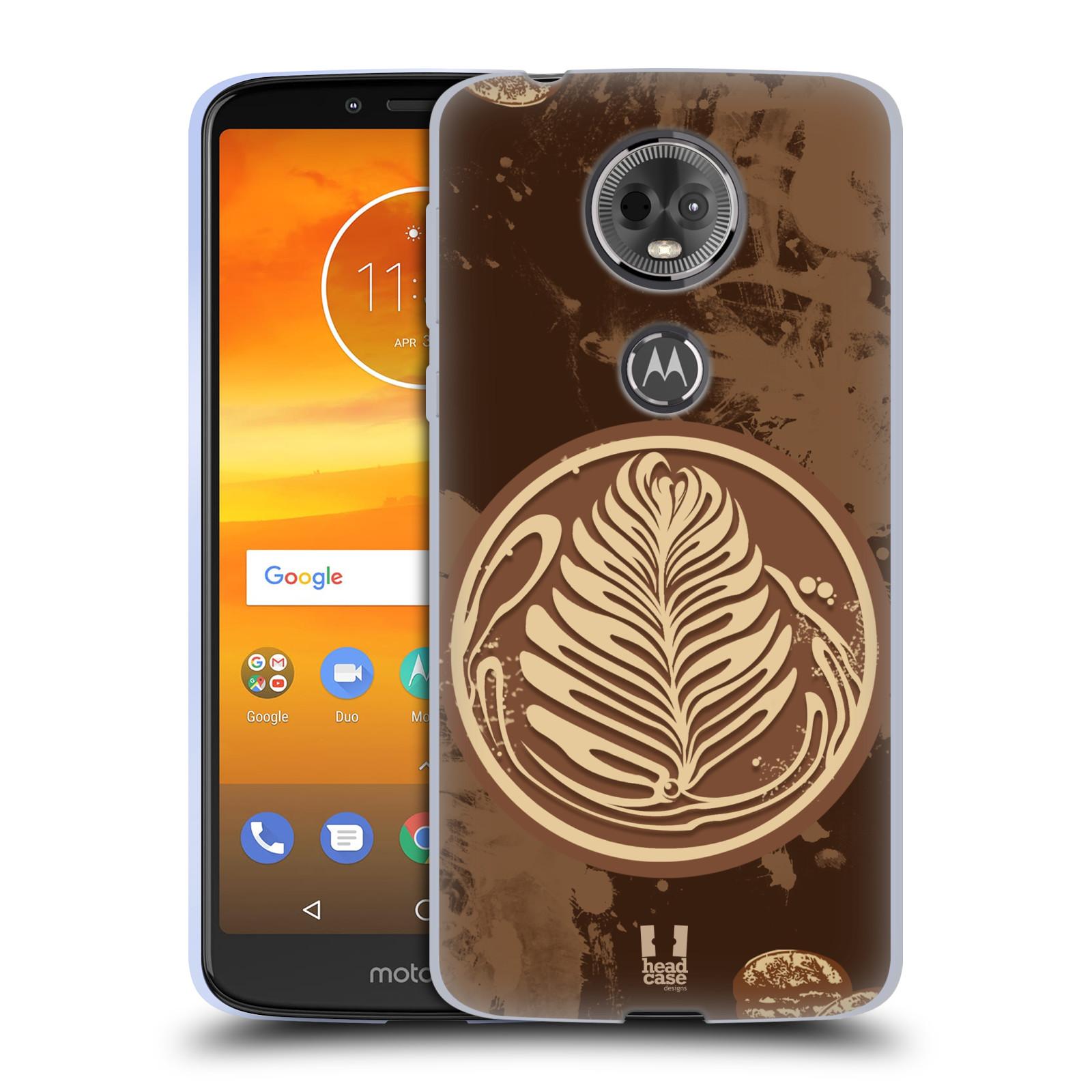 Silikonové pouzdro na mobil Motorola Moto E5 Plus - Head Case - Coffee Art