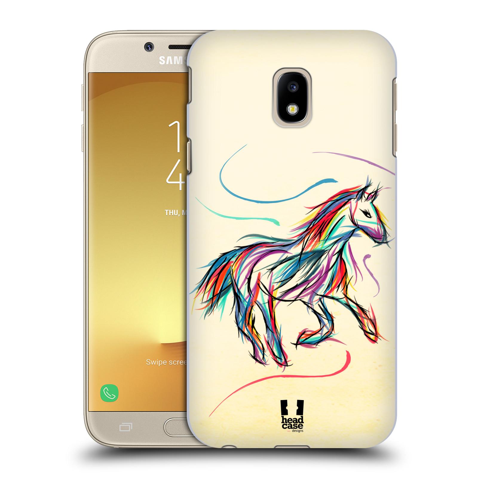 Plastové pouzdro na mobil Samsung Galaxy J3 (2017) - Head Case - KONÍK BAREVNÝ