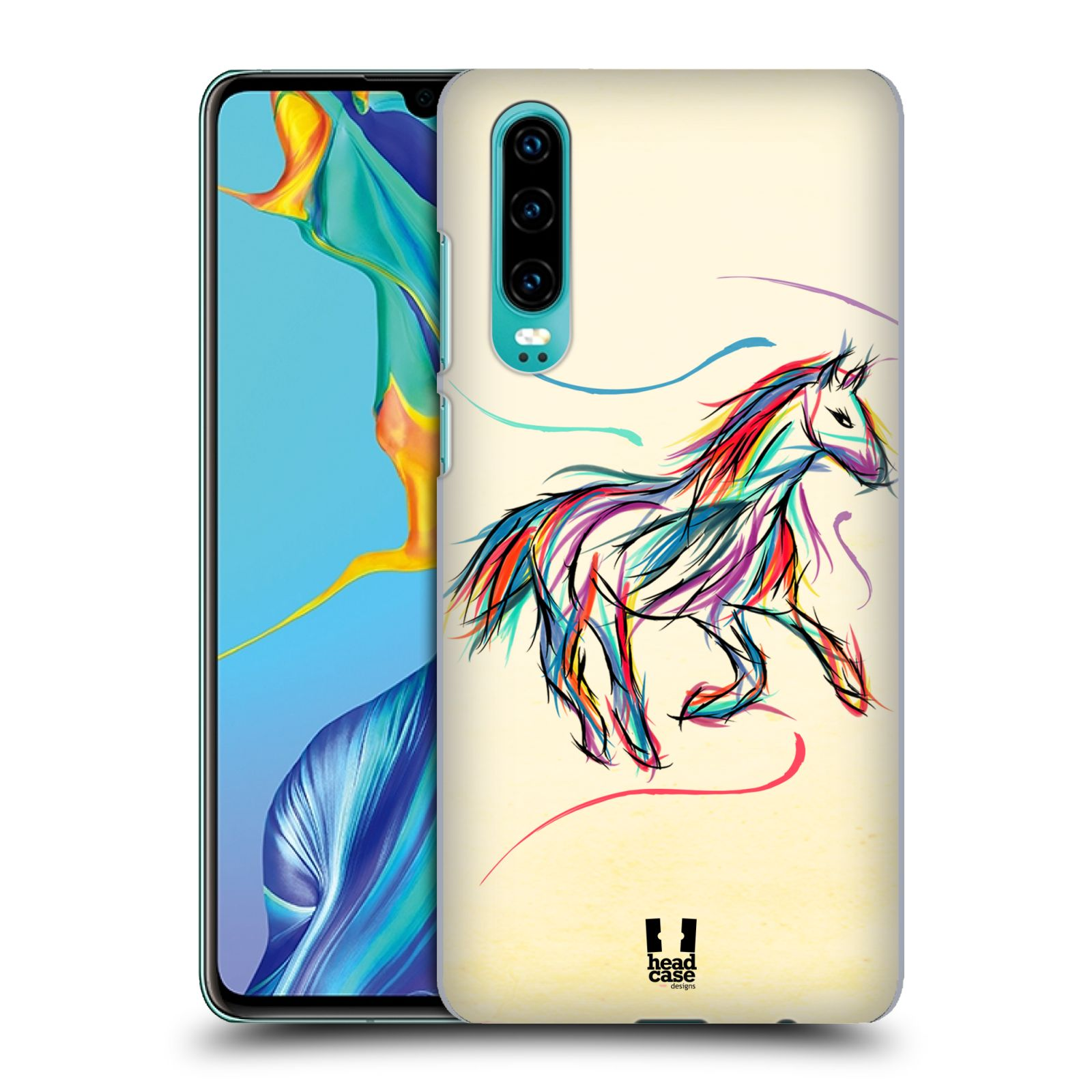 Plastové pouzdro na mobil Huawei P30 - Head Case - KONÍK BAREVNÝ