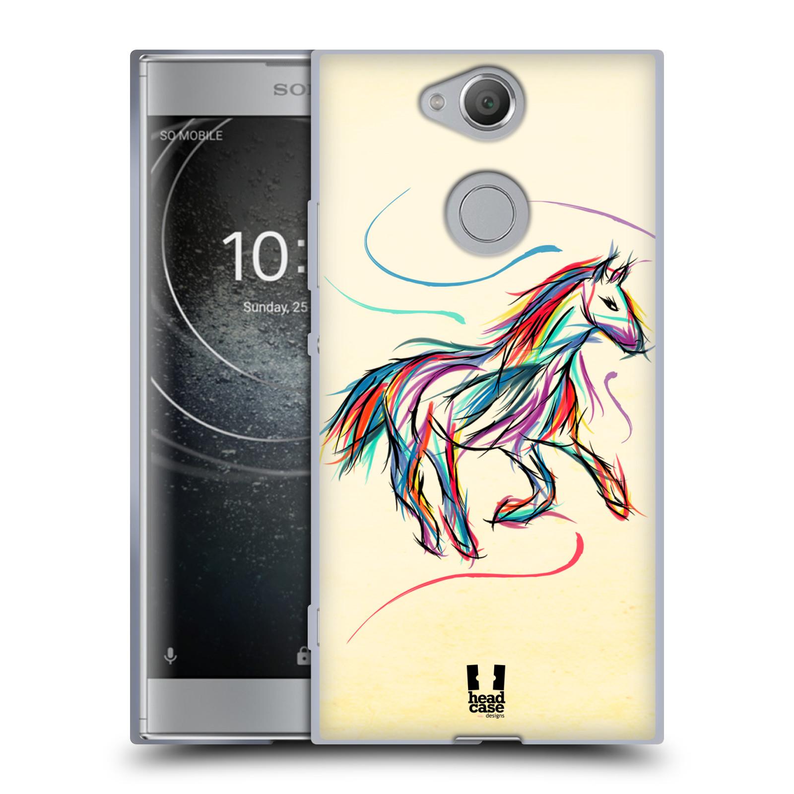 Silikonové pouzdro na mobil Sony Xperia XA2 - Head Case - KONÍK BAREVNÝ