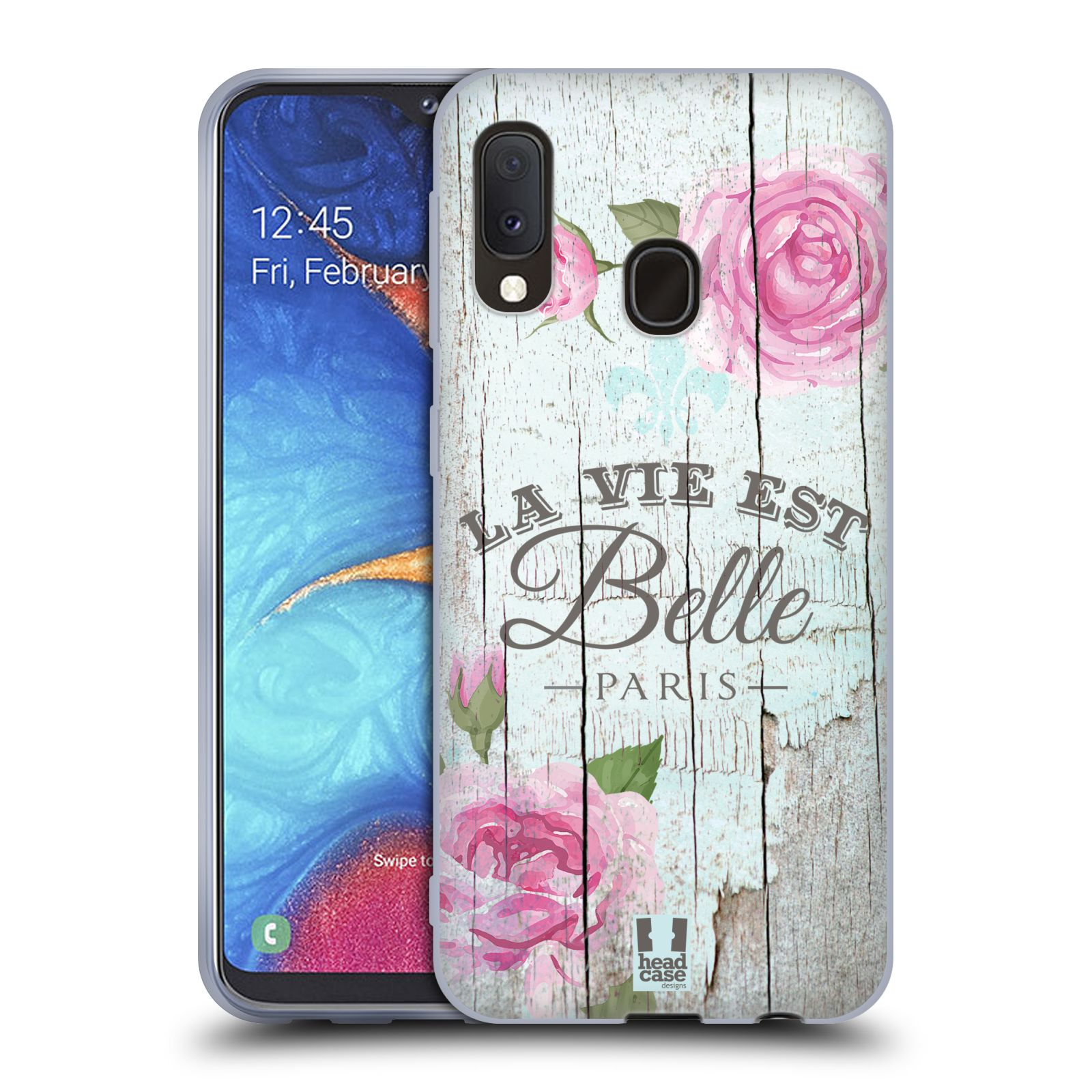 Silikonové pouzdro na mobil Samsung Galaxy A20e - Head Case - LIFE IN THE COUNTRY BELLE