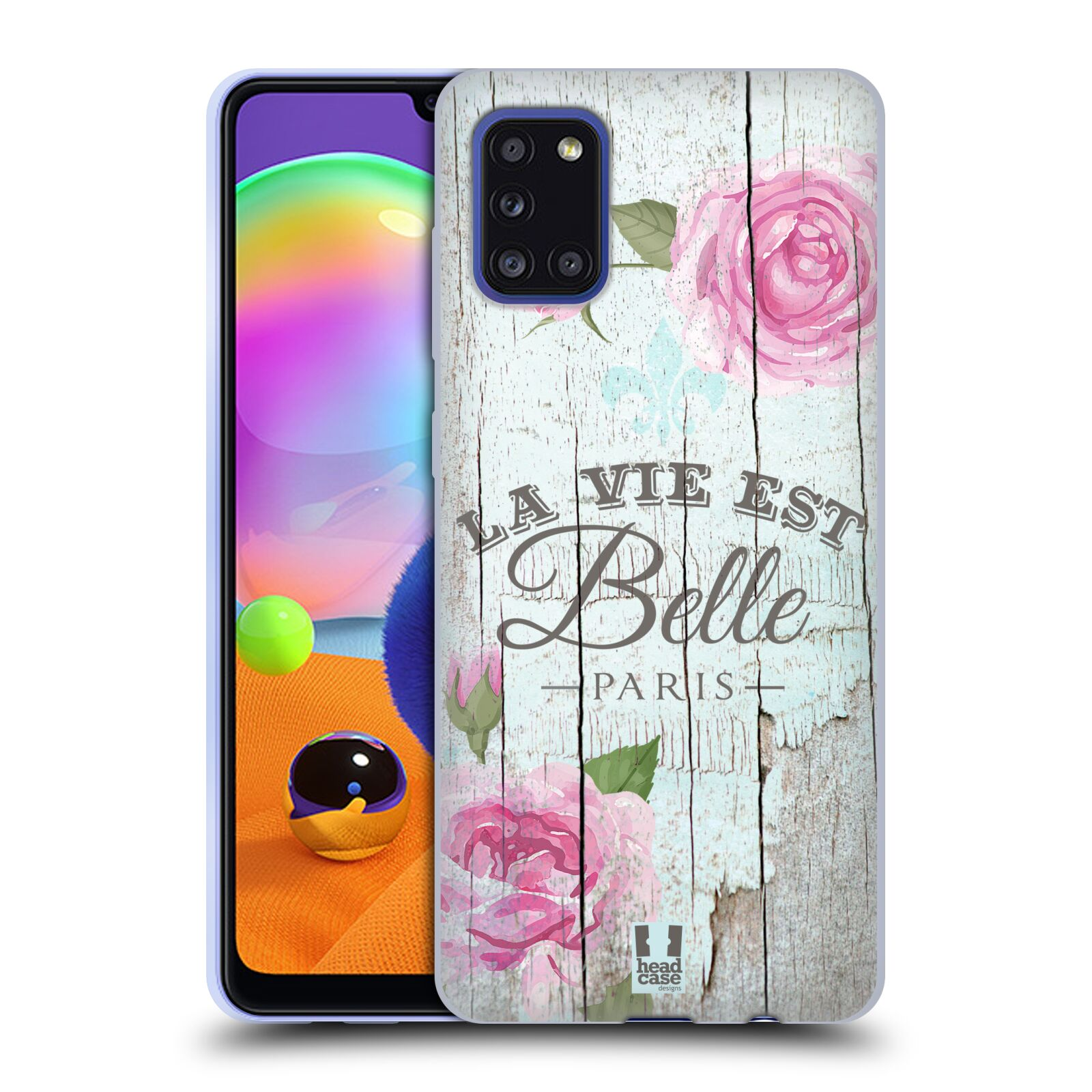 Silikonové pouzdro na mobil Samsung Galaxy A31 - Head Case - LIFE IN THE COUNTRY BELLE
