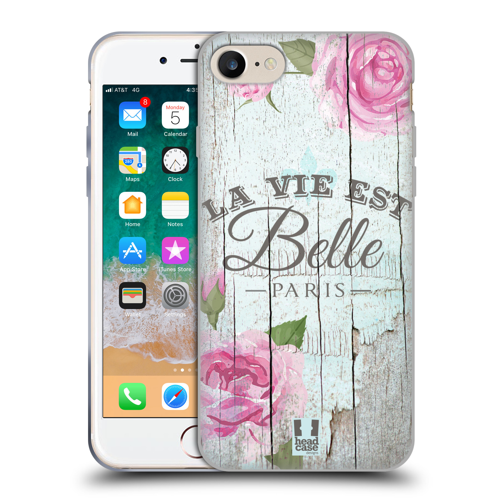Silikonové pouzdro na mobil Apple iPhone SE (2020) - Head Case - LIFE IN THE COUNTRY BELLE