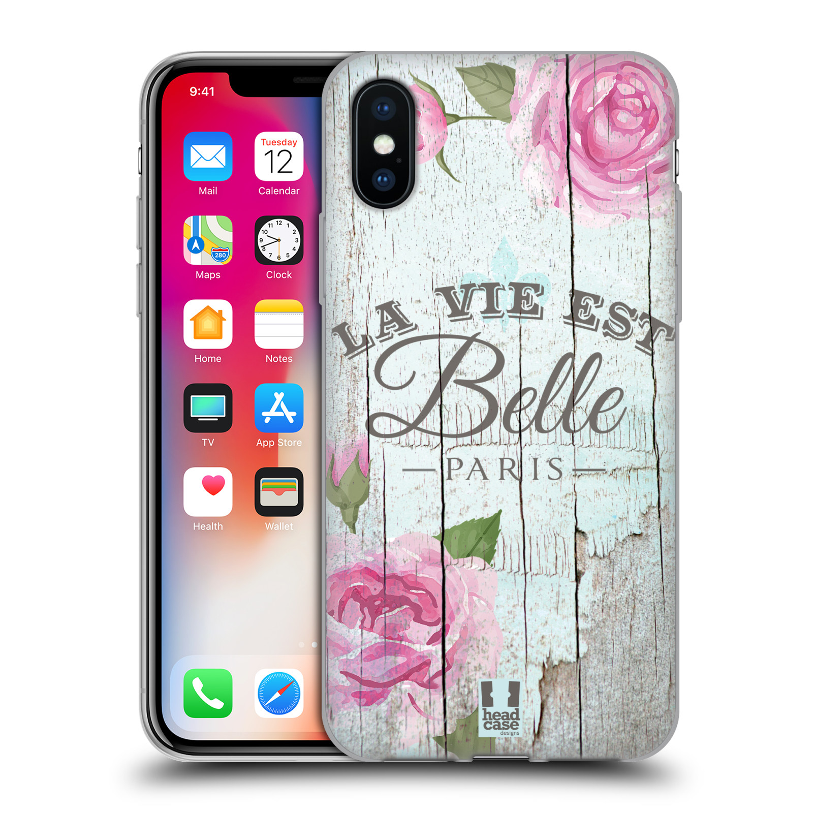 Silikonové pouzdro na mobil Apple iPhone XS - Head Case - LIFE IN THE COUNTRY BELLE