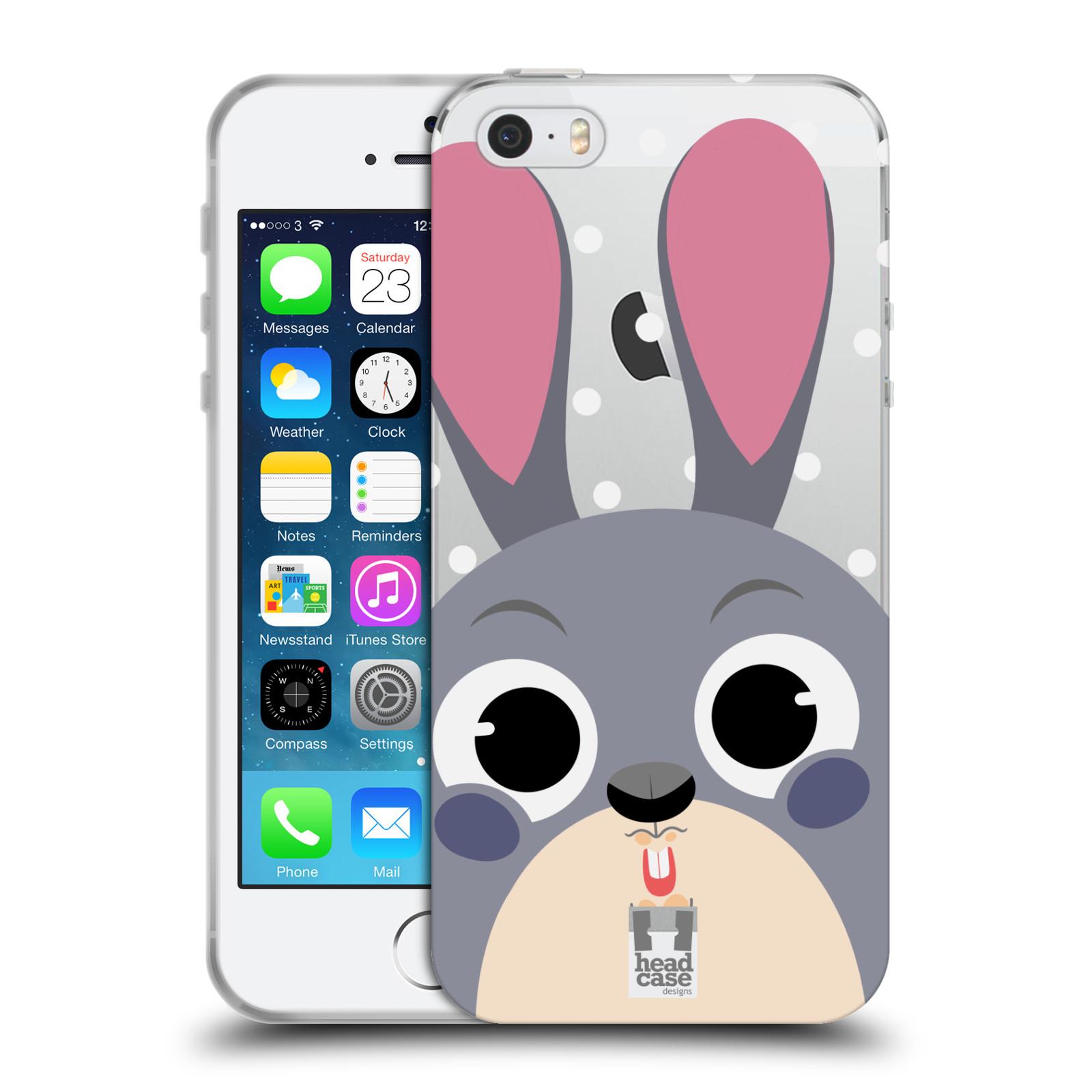 Silikonové pouzdro na mobil Apple iPhone 5, 5S, SE - Head Case - Králíček roztomilouš