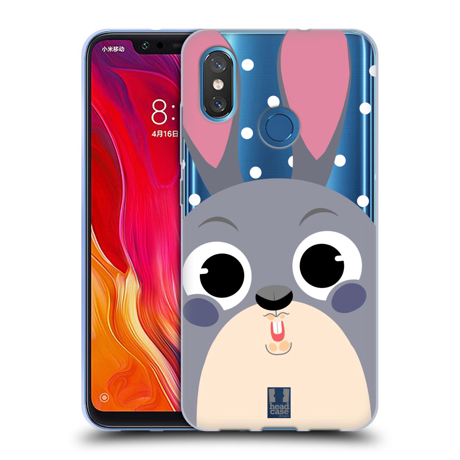 Silikonové pouzdro na mobil Xiaomi Mi8 - Head Case - Králíček roztomilouš
