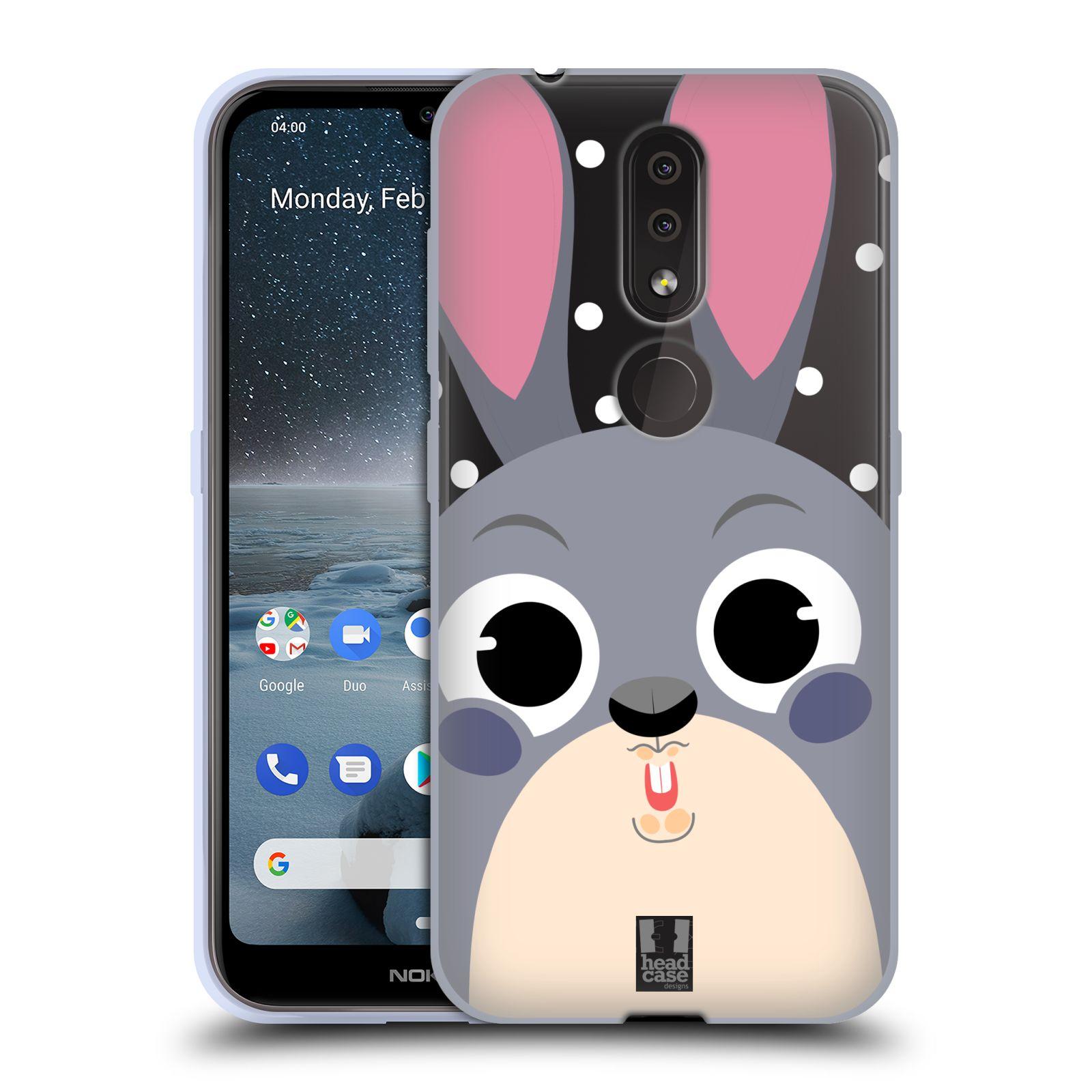 Silikonové pouzdro na mobil Nokia 4.2 - Head Case - Králíček roztomilouš