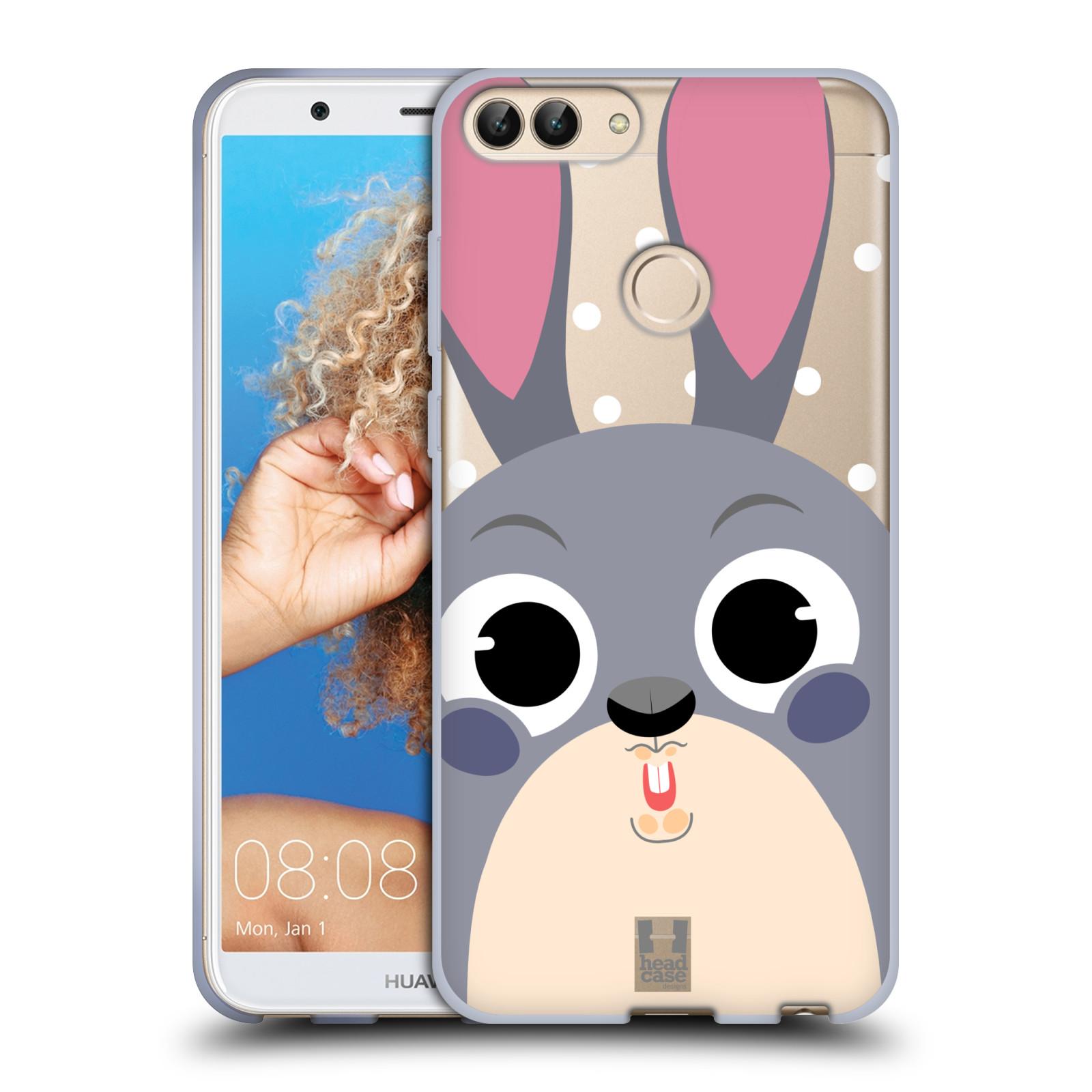 Silikonové pouzdro na mobil Huawei P Smart - Head Case - Králíček roztomilouš