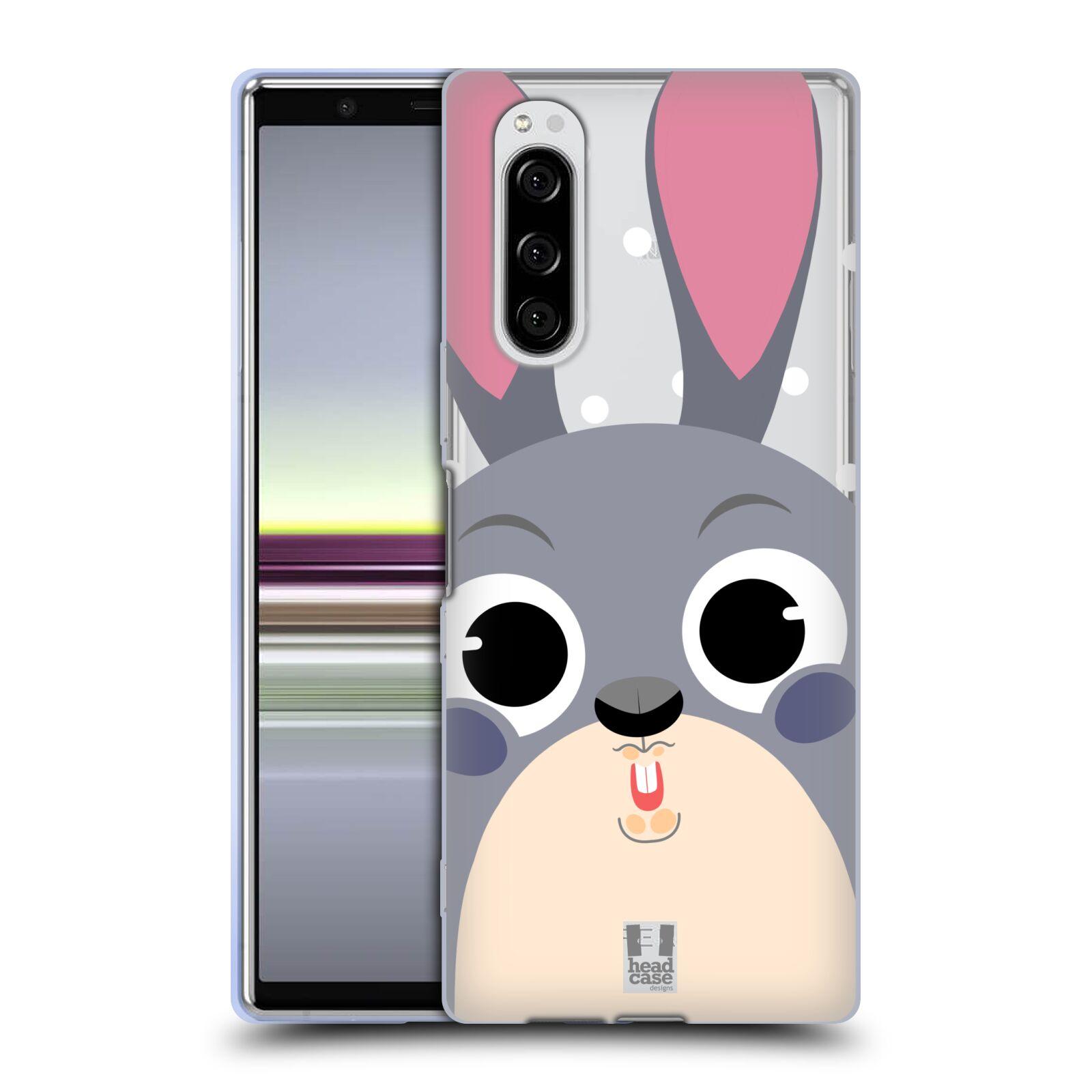 Silikonové pouzdro na mobil Sony Xperia 5 - Head Case - Králíček roztomilouš