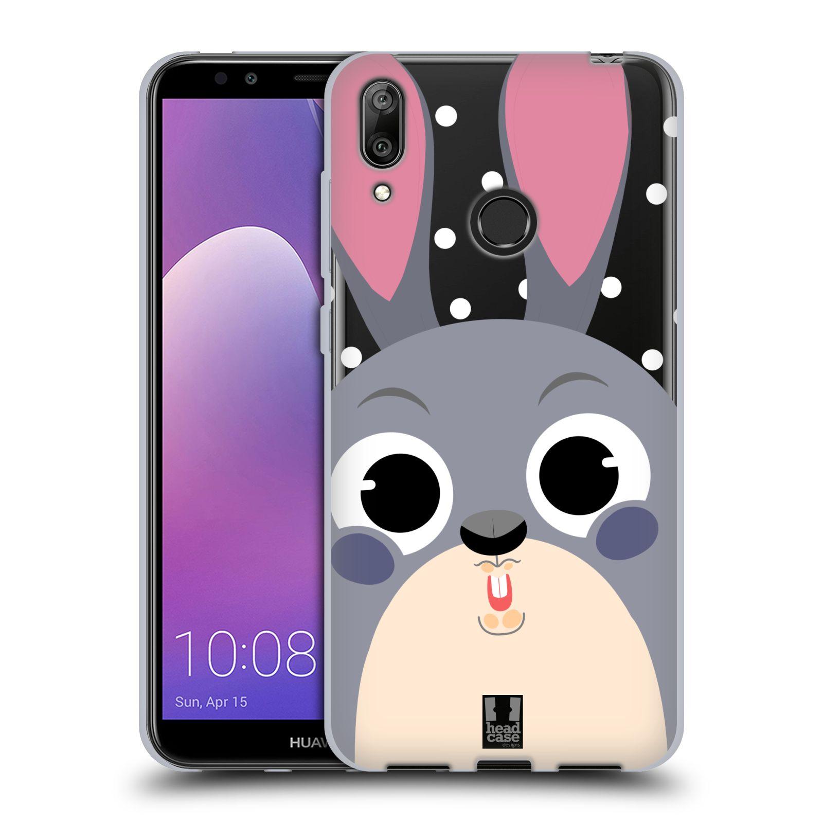 Silikonové pouzdro na mobil Huawei Y7 (2019) - Head Case - Králíček roztomilouš