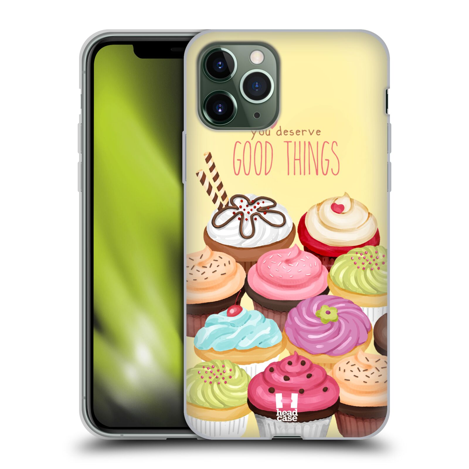 victoria obaly iphone xr , Silikonové pouzdro na mobil Apple iPhone 11 Pro - Head Case - CUPCAKE GOOD THINGS
