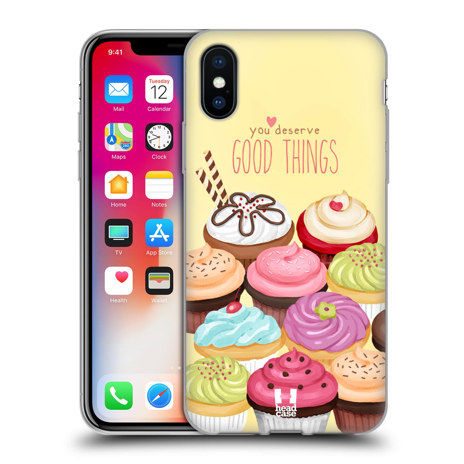 Silikonové pouzdro na mobil Apple iPhone XS - Head Case - CUPCAKE GOOD THINGS